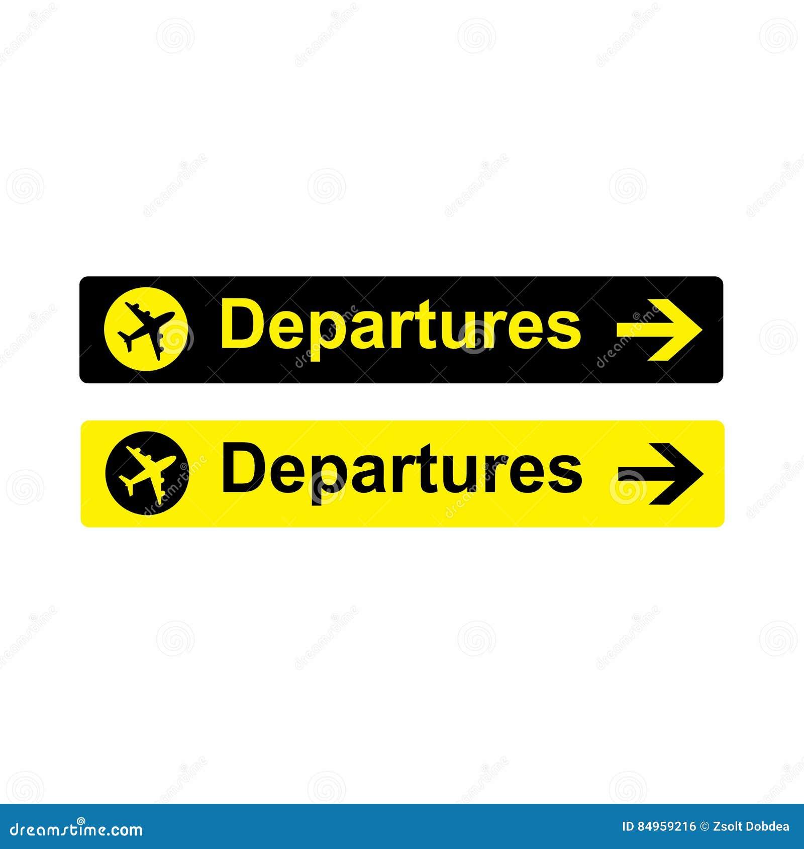 Aeroporto Zurigo Partenze : Progettazione di vettore del segno di partenze dell aeroporto