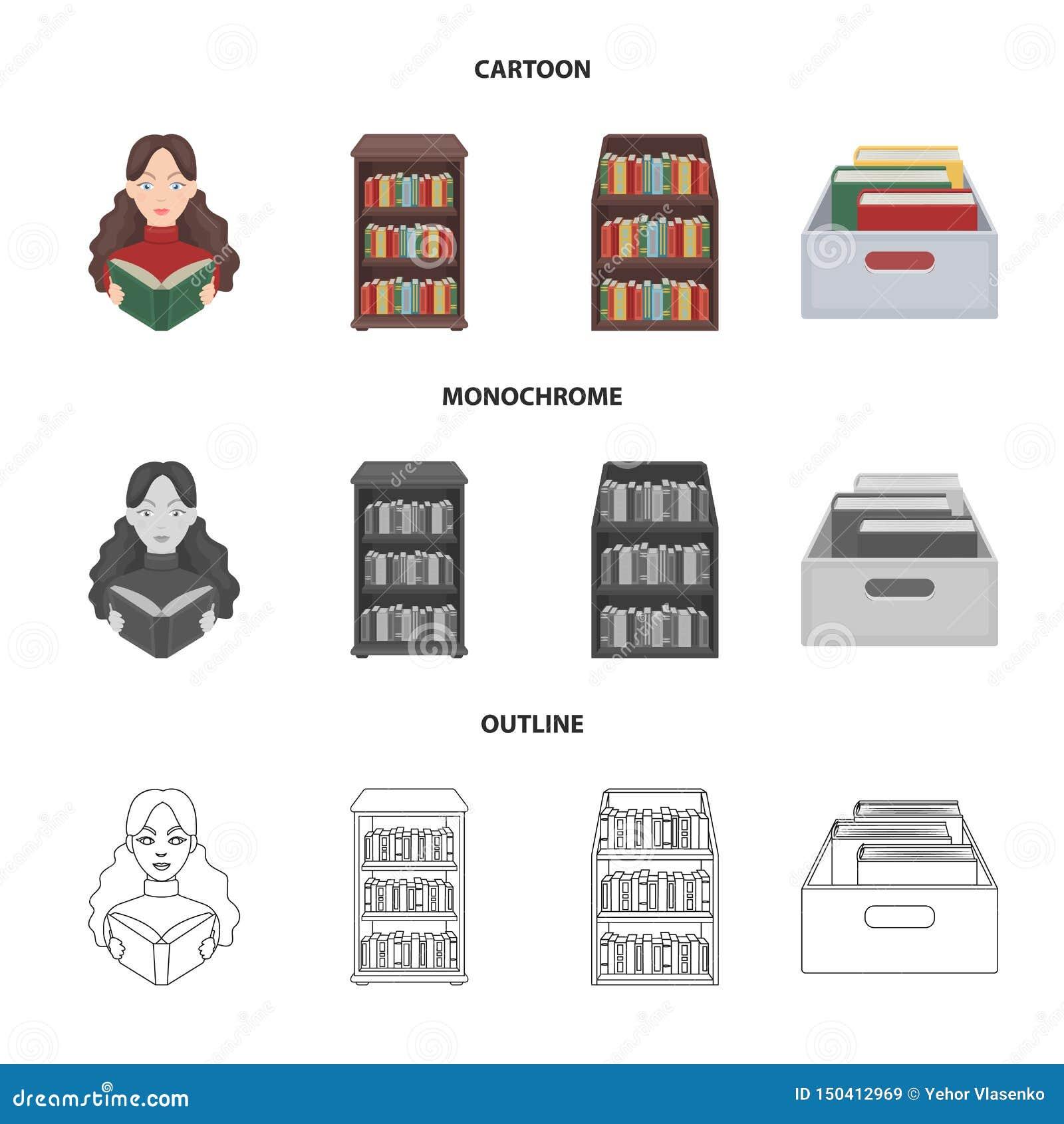 Progettazione di vettore dell icona del manuale e delle biblioteche Metta dell icona di vettore della scuola e delle biblioteche