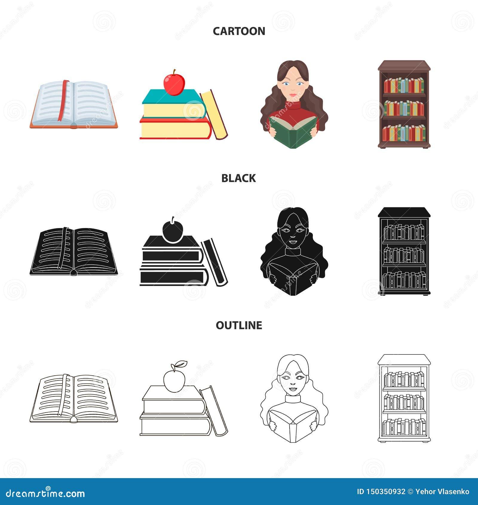 Progettazione di vettore dell icona del manuale e delle biblioteche Metta del simbolo di riserva della scuola e delle biblioteche