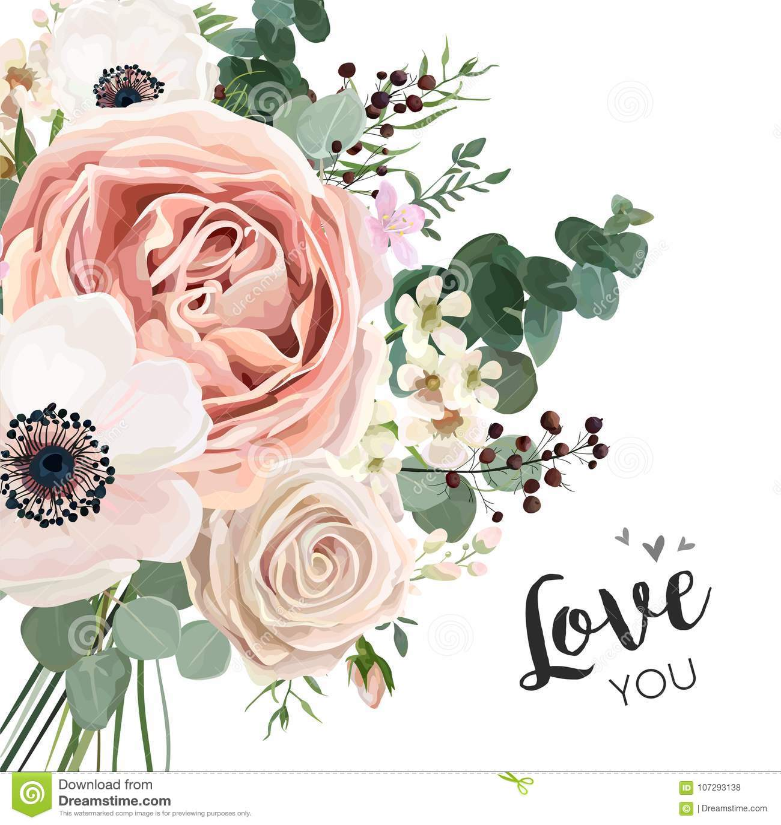 Progettazione elegante di vettore floreale della carta con la lavanda pi del fiore del giardino