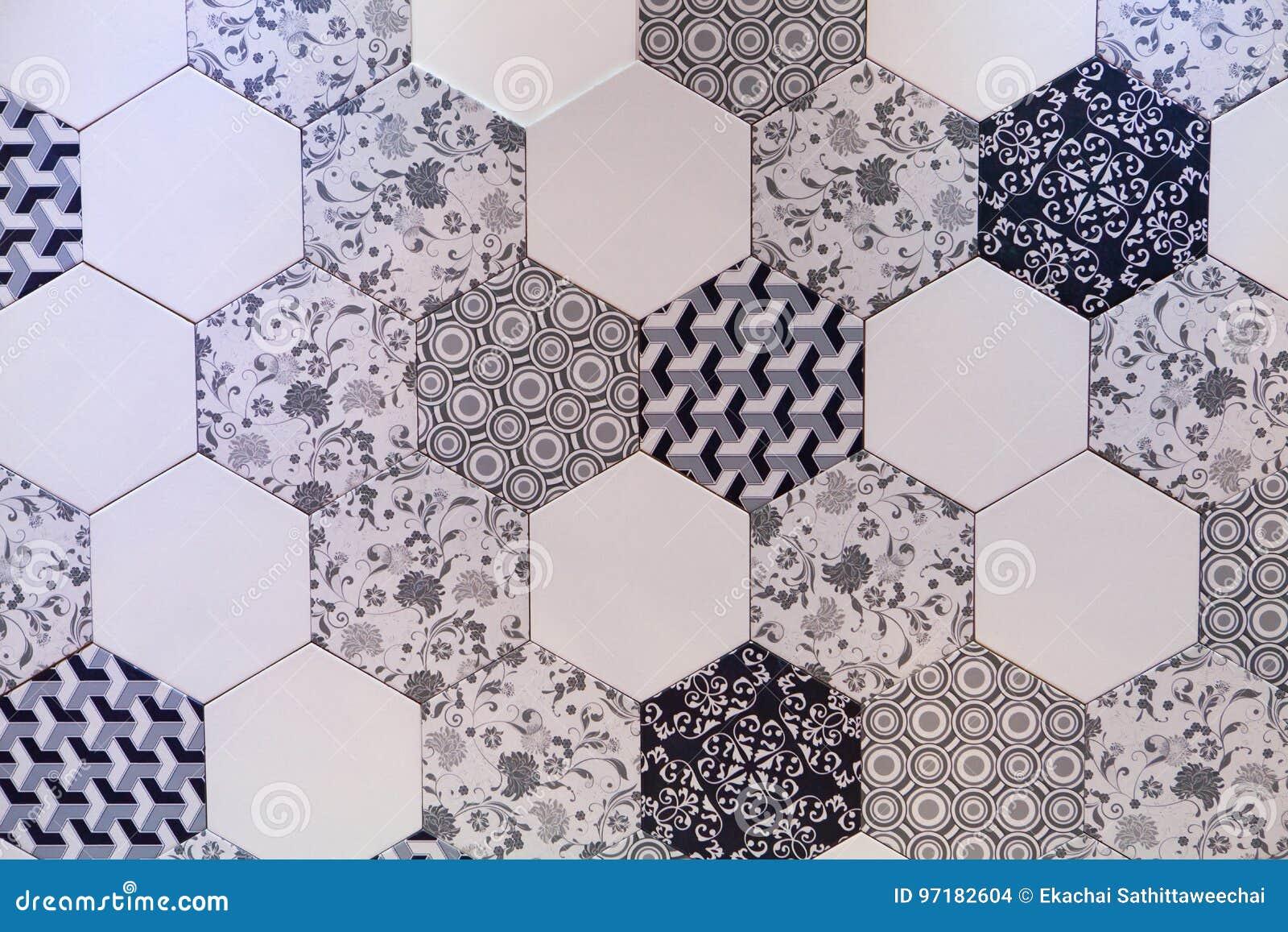 Progettazione esagonale del fondo del mosaico delle mattonelle