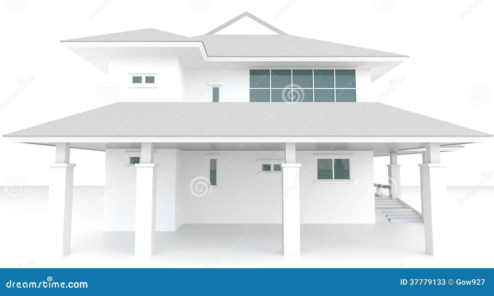 Progettazione esteriore di architettura bianca della casa for Programmi 3d architettura