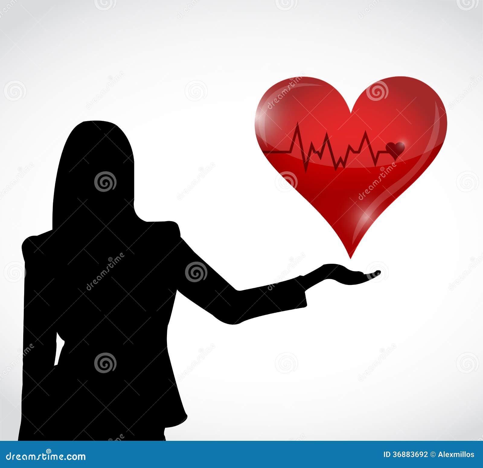 Download Progettazione Femminile E Rossa Dell'illustrazione Del Cuore Del Cavo Di Sicurezza Illustrazione di Stock - Illustrazione di medico, amore: 36883692