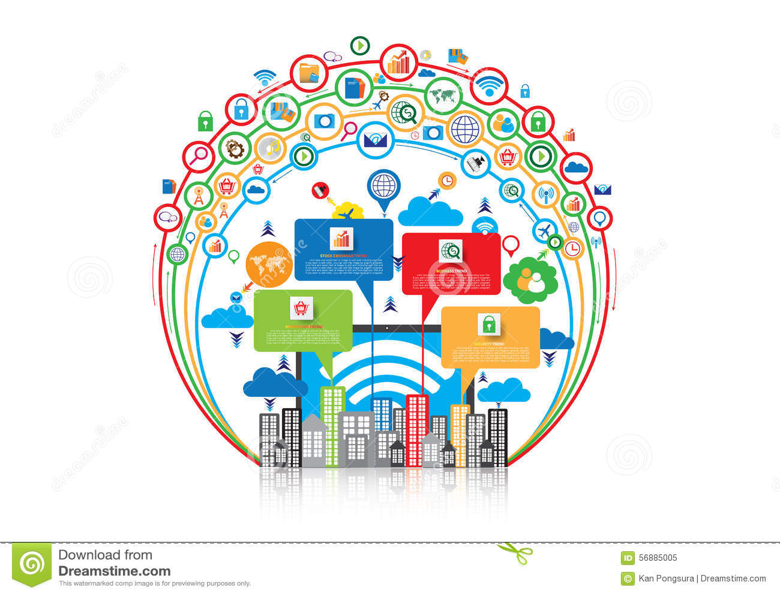 Progettazione grafica della rete di comunicazione