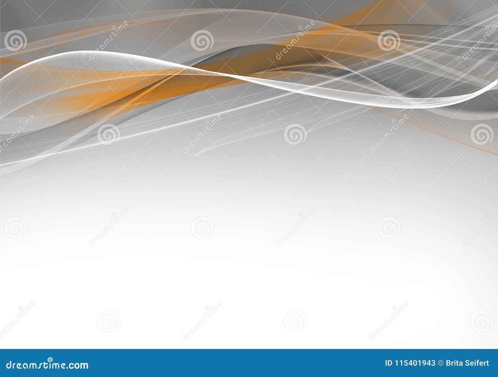 Progettazione grigia ed arancio astratta elegante del fondo