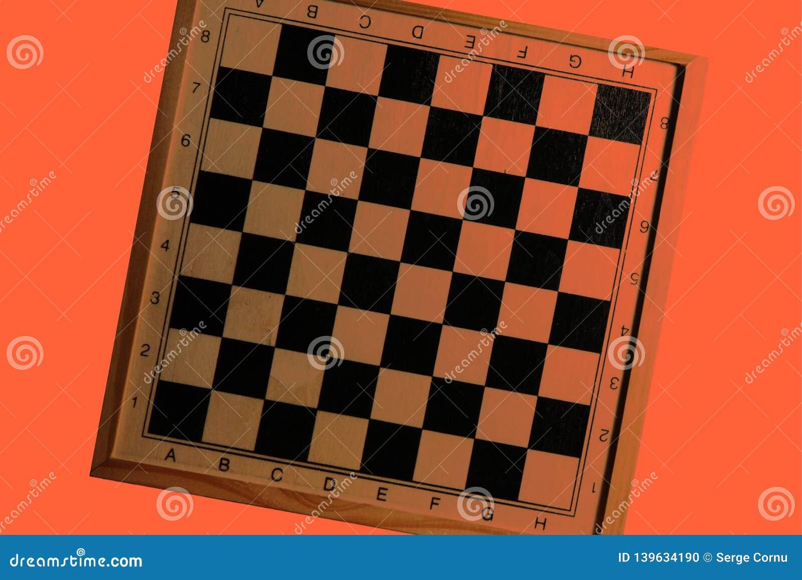 Progettazione inclinata arancio della scacchiera