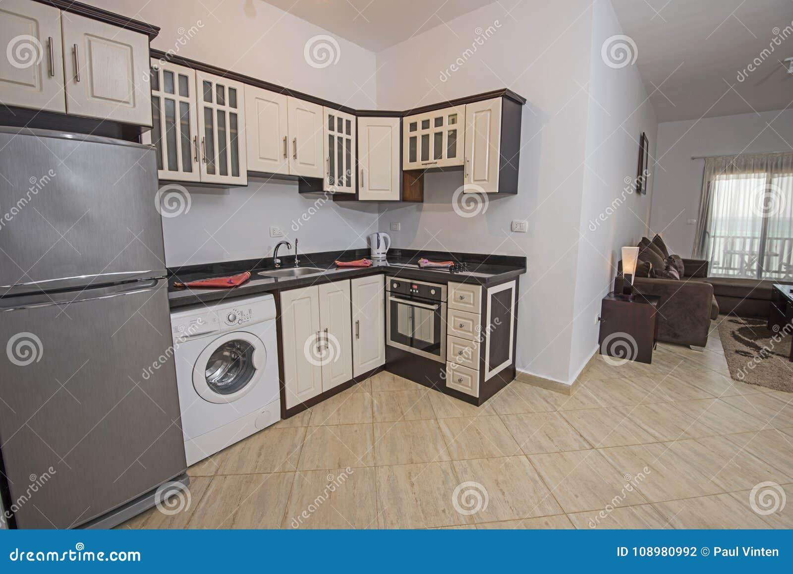 Progettazione Interna Della Decorazione Della Cucina In Appartamento ...