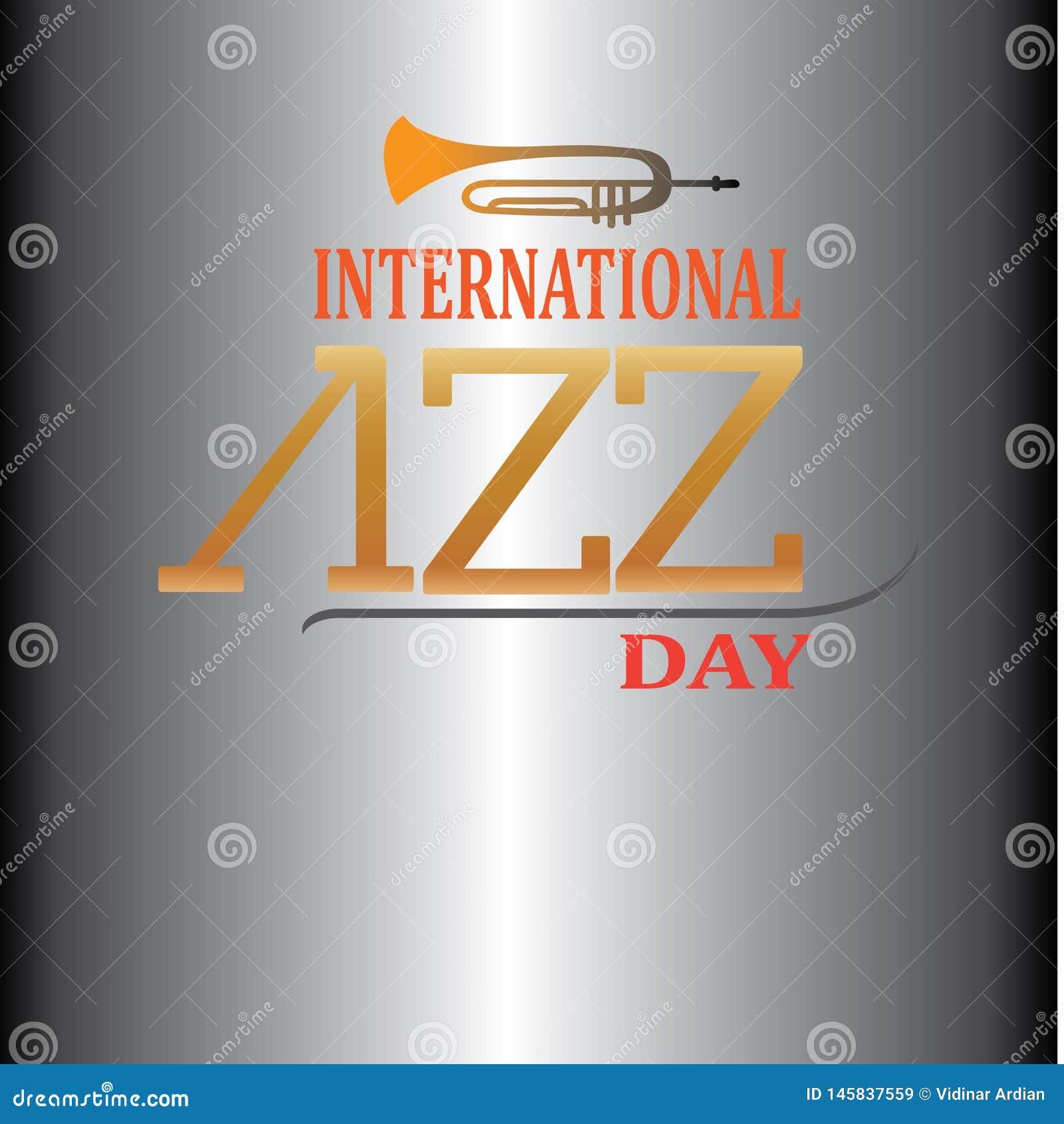Progettazione internazionale di Jazz Day Vector Illustration - L archivio di vettore