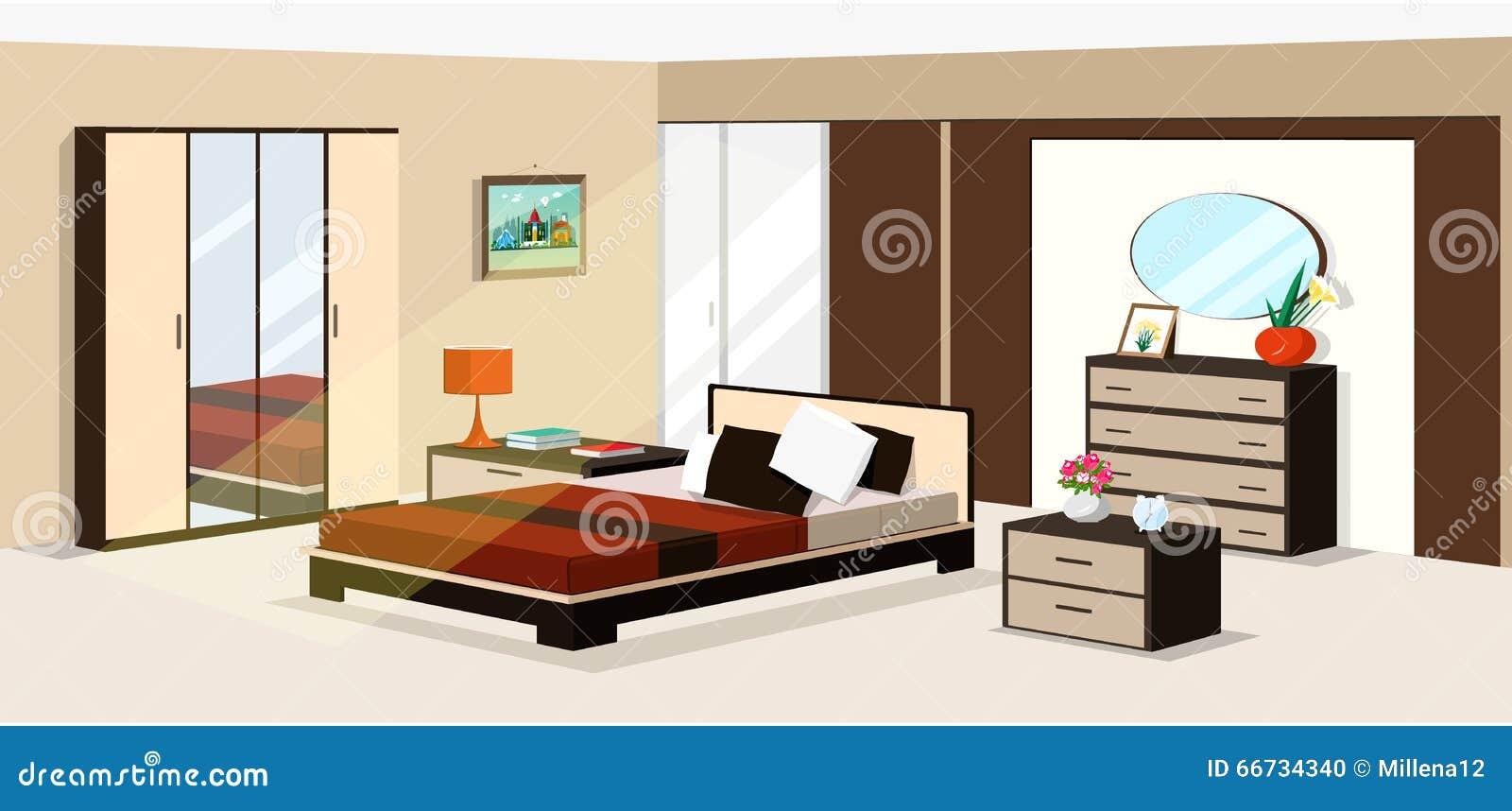 Progettazione isometrica della camera da letto 3d illustrazione di vettore della mobilia - I segreti della camera da letto ...