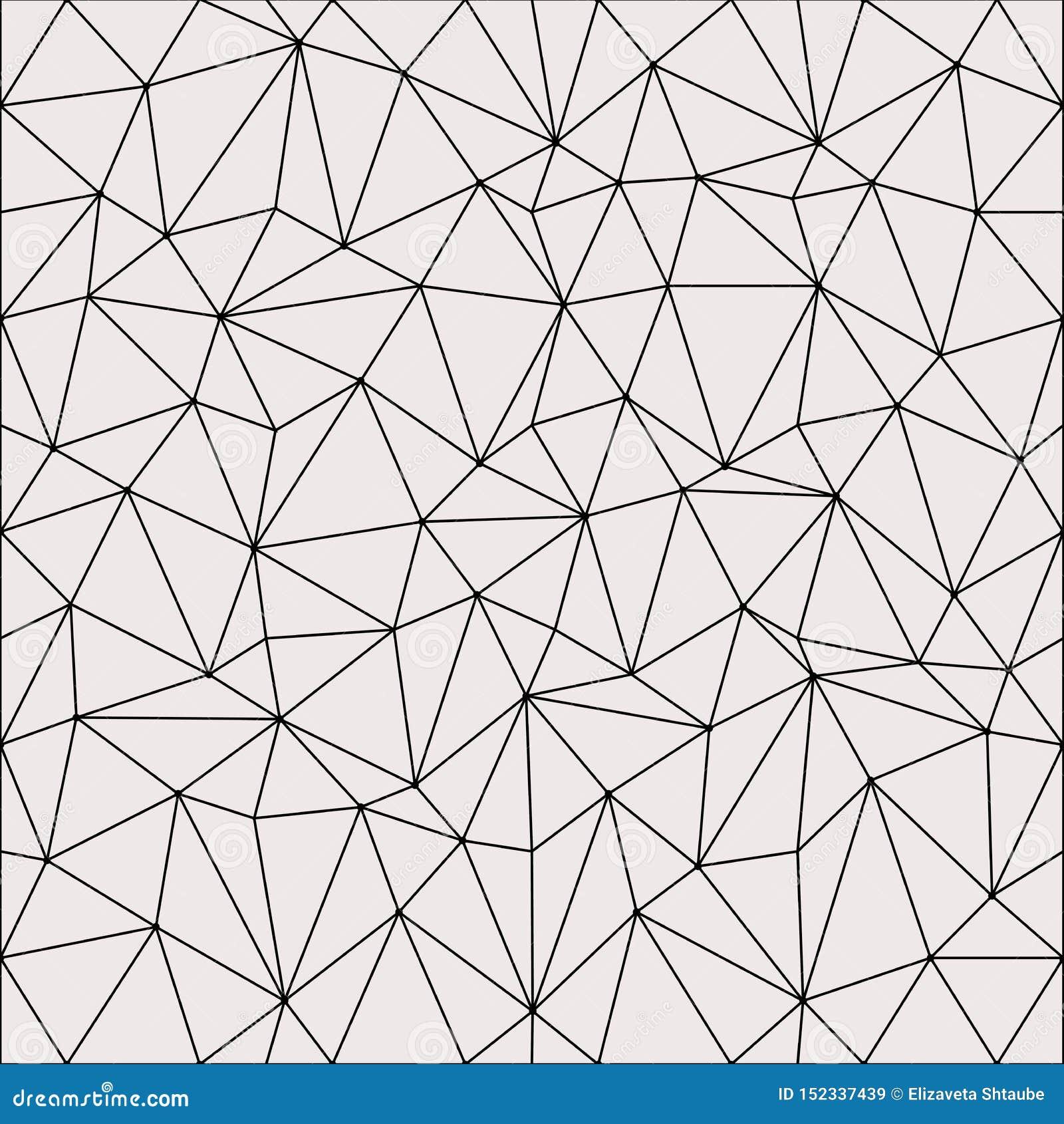 Progettazione leggera astratta del fondo del poligono Reticolo geometrico astratto Illustrazione lineare di vettore di griglia