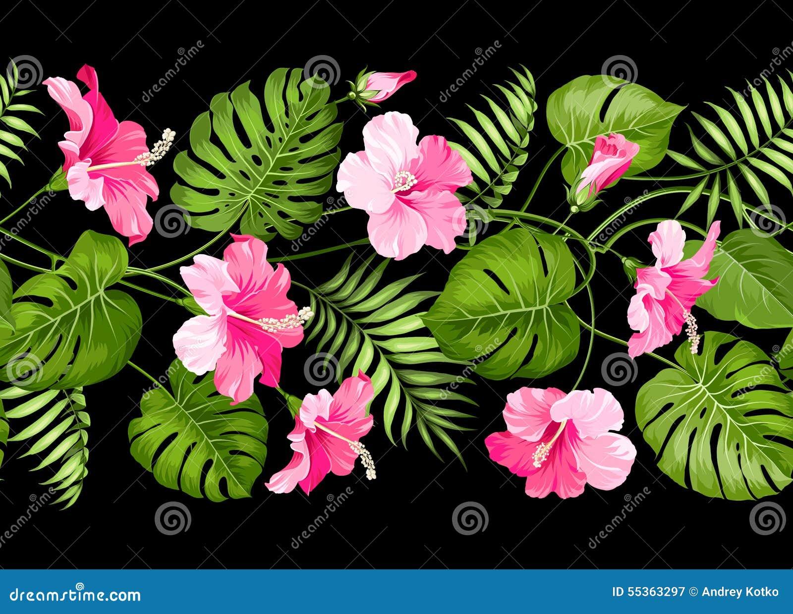 Progettazione lineare floreale delle mattonelle