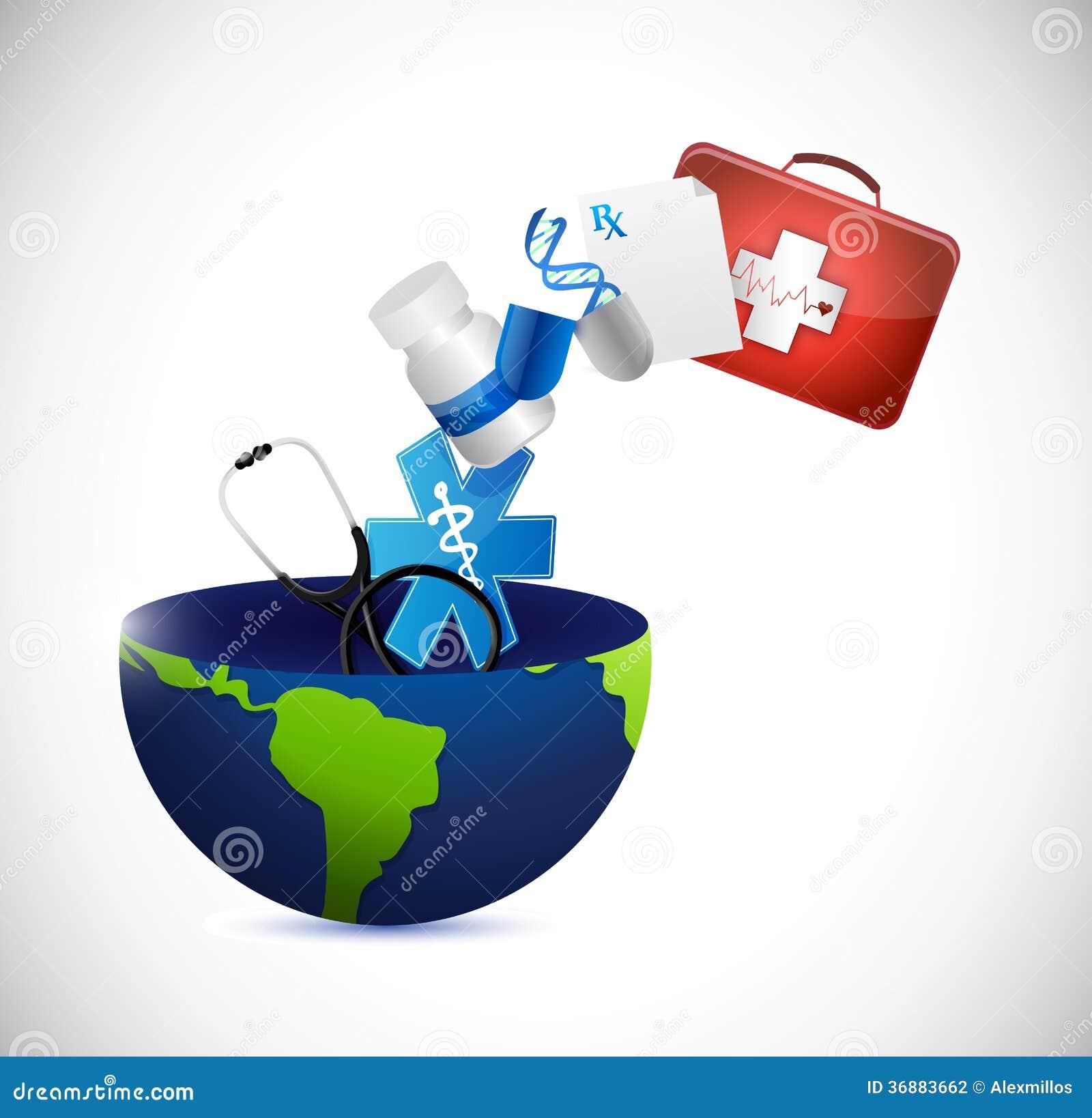 Download Progettazione Medica Dell'illustrazione Del Globo Di Concetto Illustrazione di Stock - Illustrazione di africa, assegno: 36883662