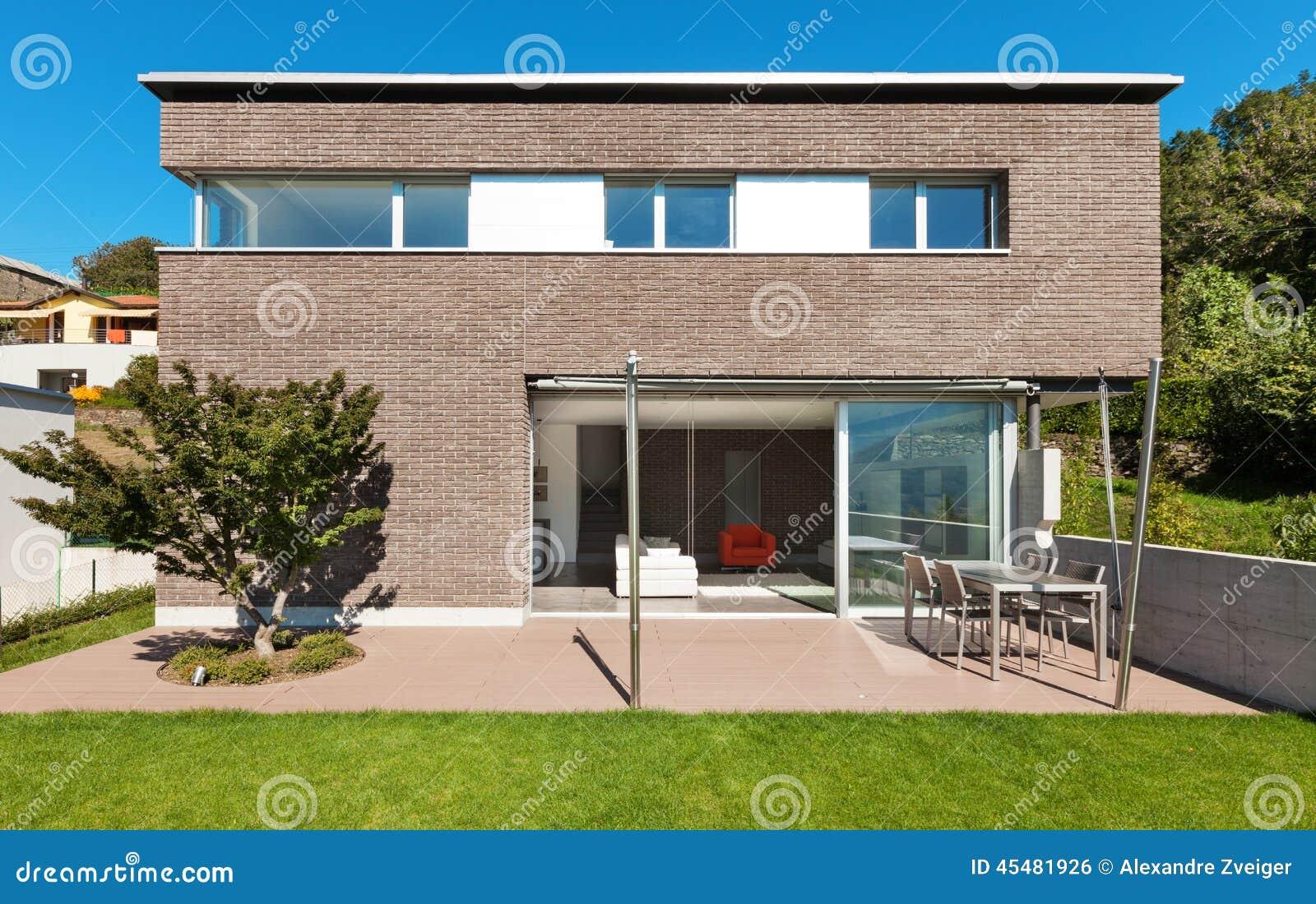 Progettazione moderna di architettura casa fotografia for Design di casa all aperto