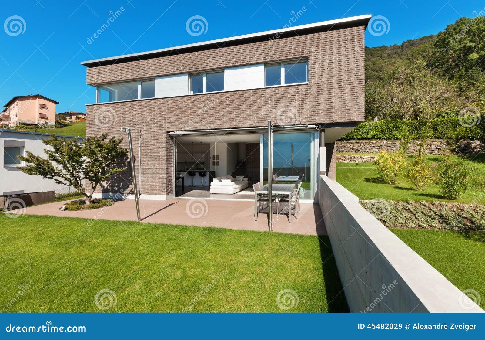 Progettazione moderna di architettura casa fotografia stock immagine 45482029 - Progetto di casa moderna ...