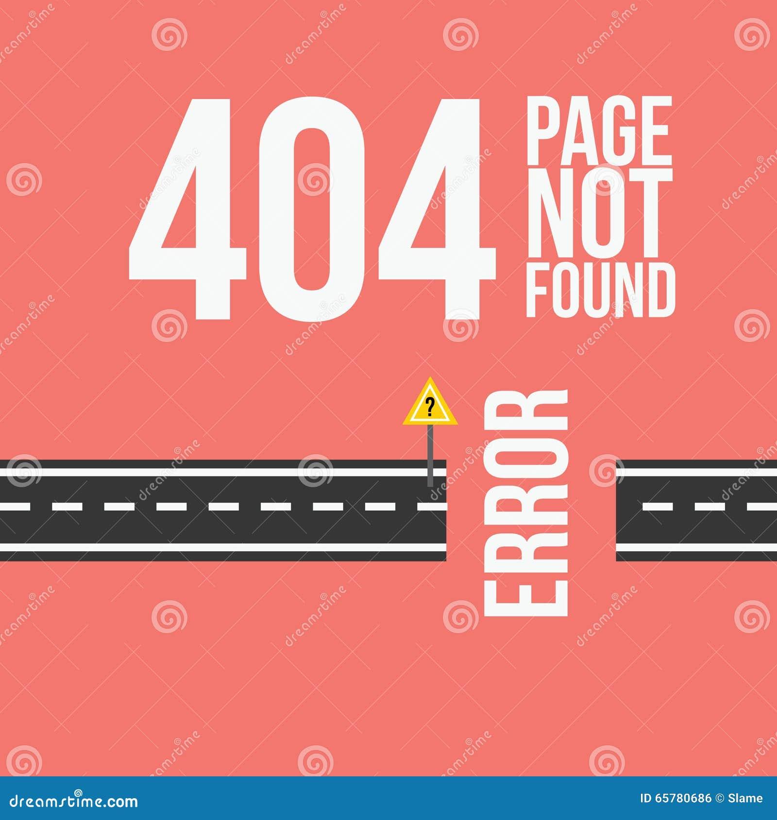 Progettazione non trovata di errore 404 della pagina per il sito Web o il blog in styl piano
