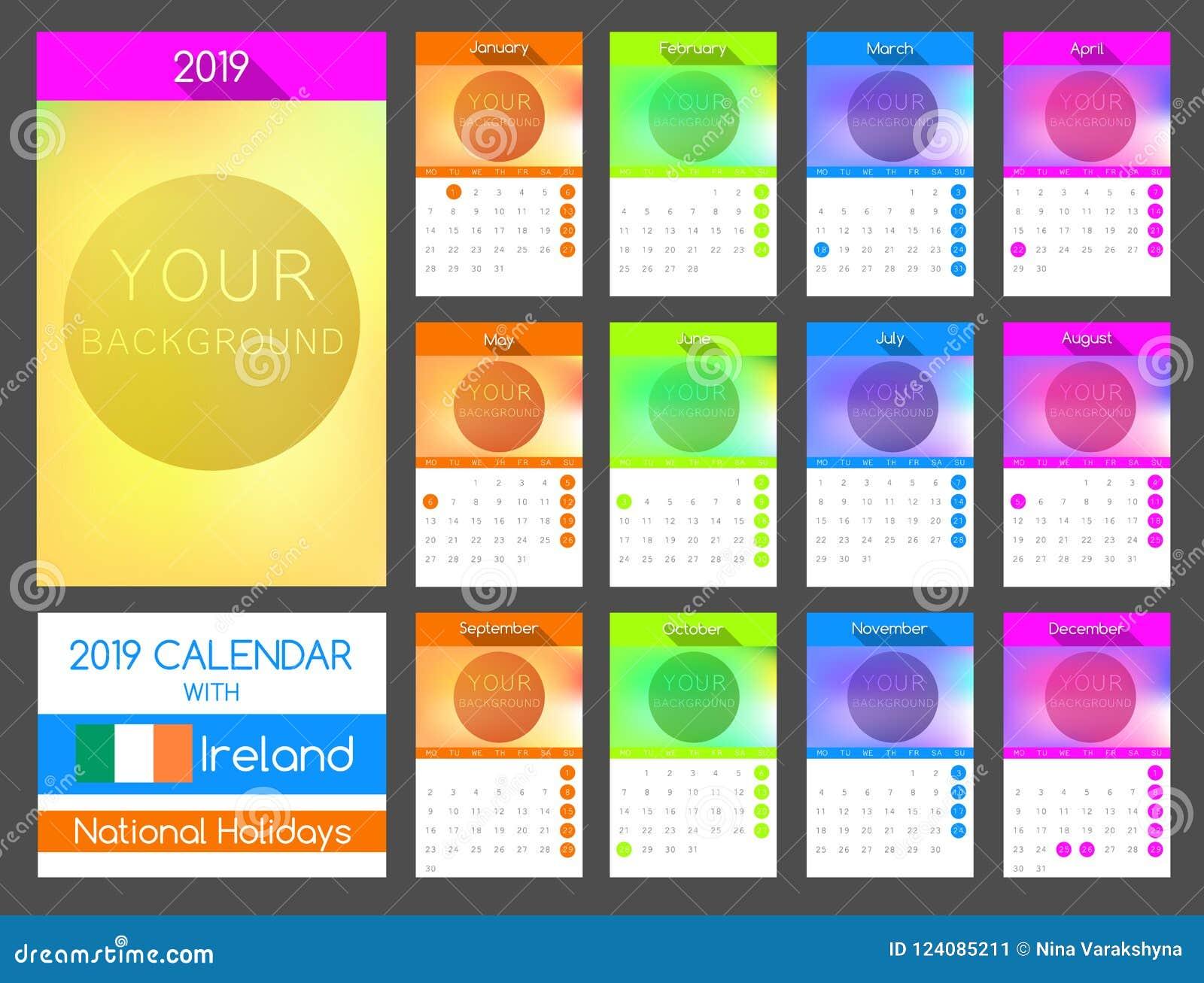 Nazionale Calendario.Progettazione Piana 2019 Del Calendario Con Festa Nazionale