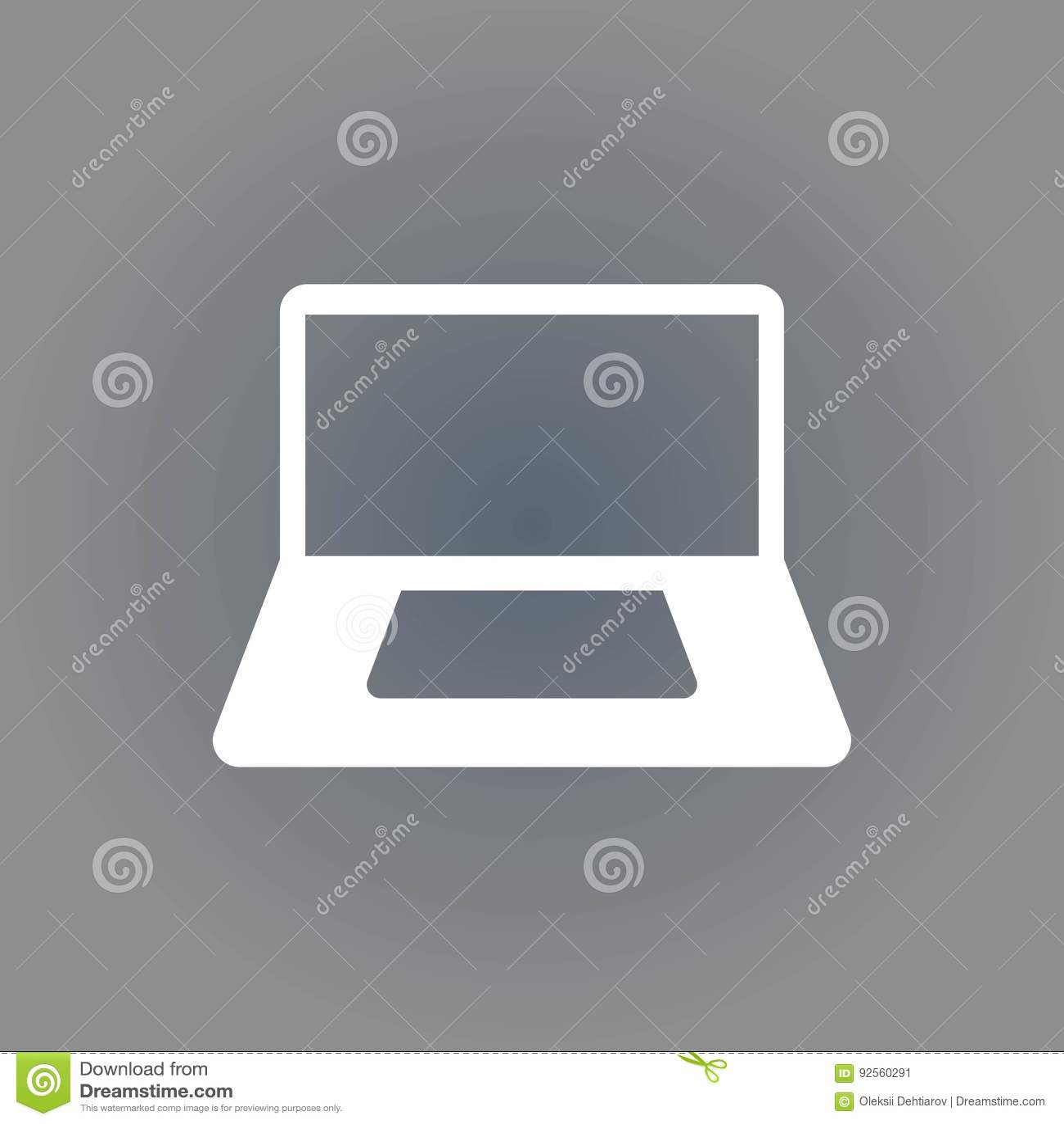 Progettazione piana dell illustrazione di vettore delle azione dell icona del computer portatile