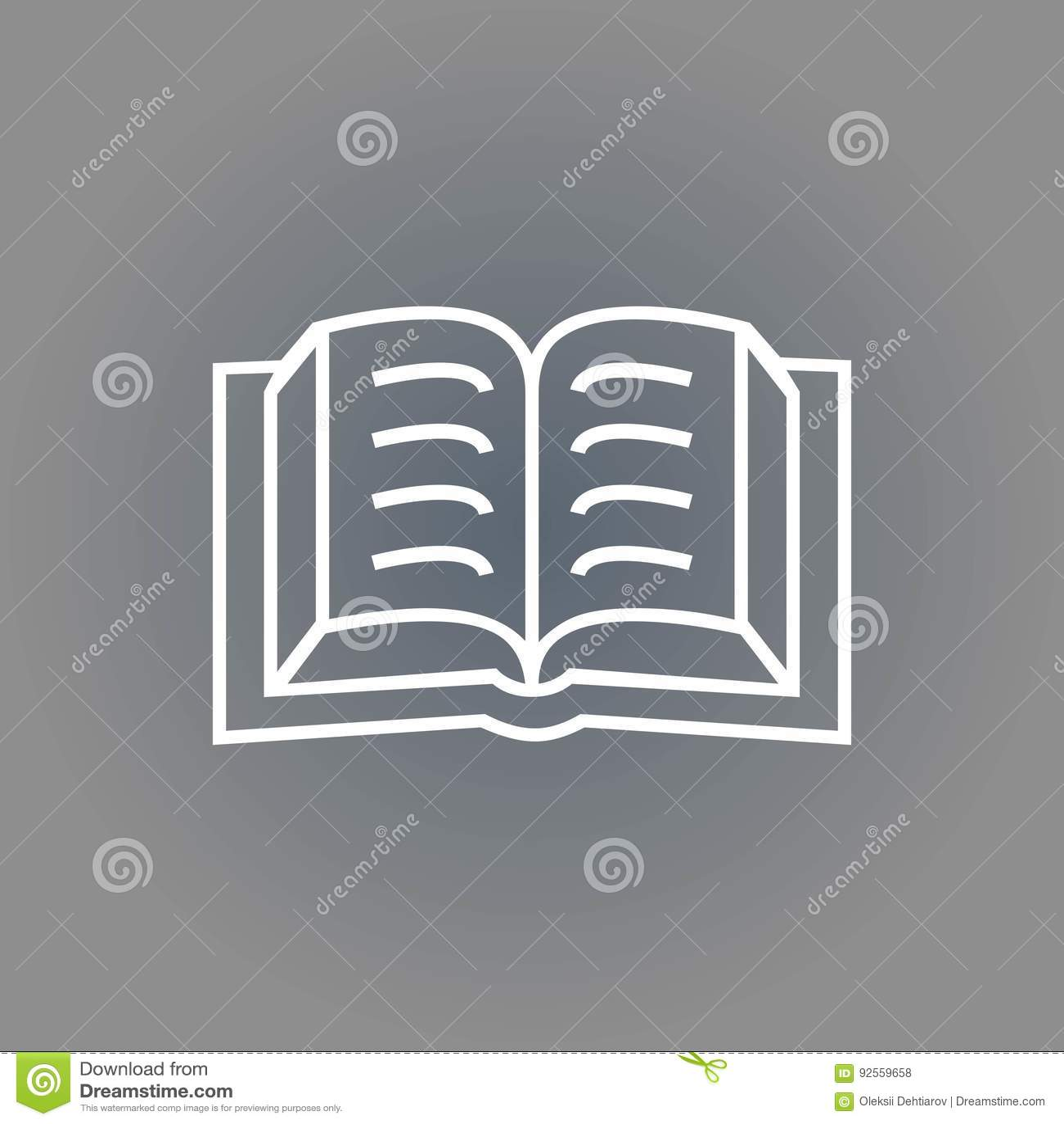 Progettazione piana dell illustrazione di vettore delle azione dell icona del libro