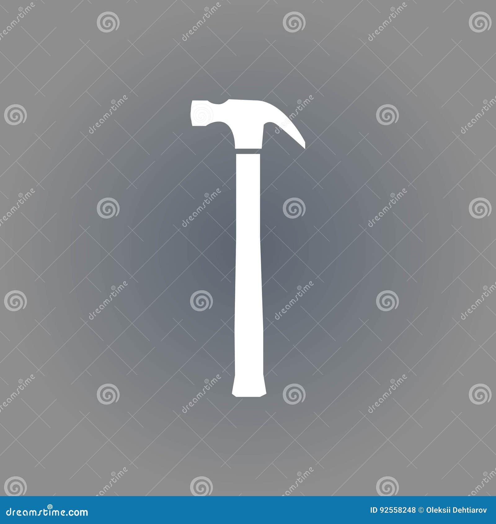 Progettazione piana dell illustrazione di vettore delle azione dell icona del martello