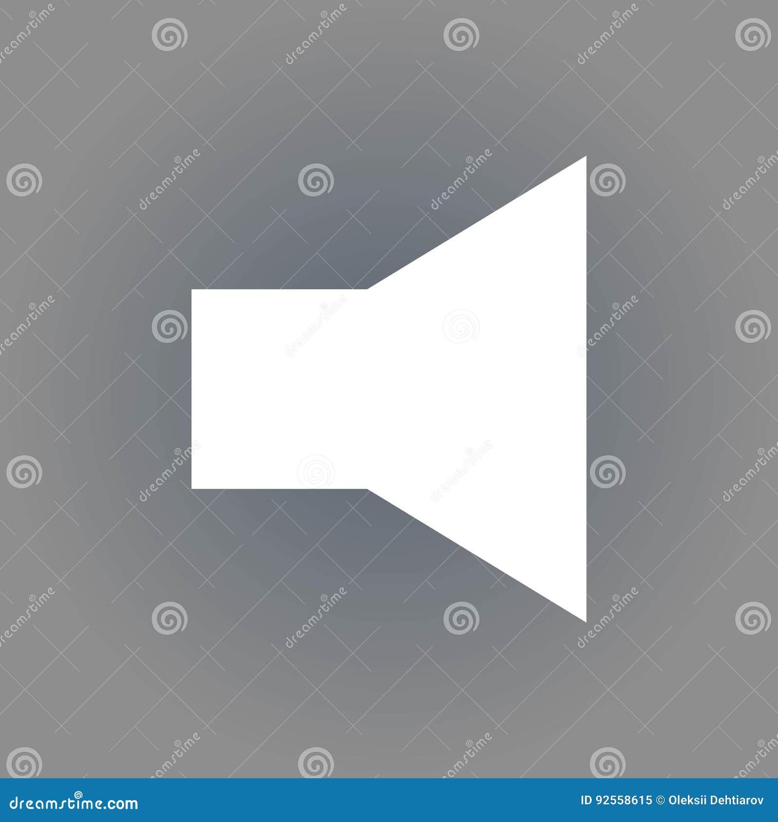 Progettazione piana dell illustrazione di vettore delle azione dell icona del volume