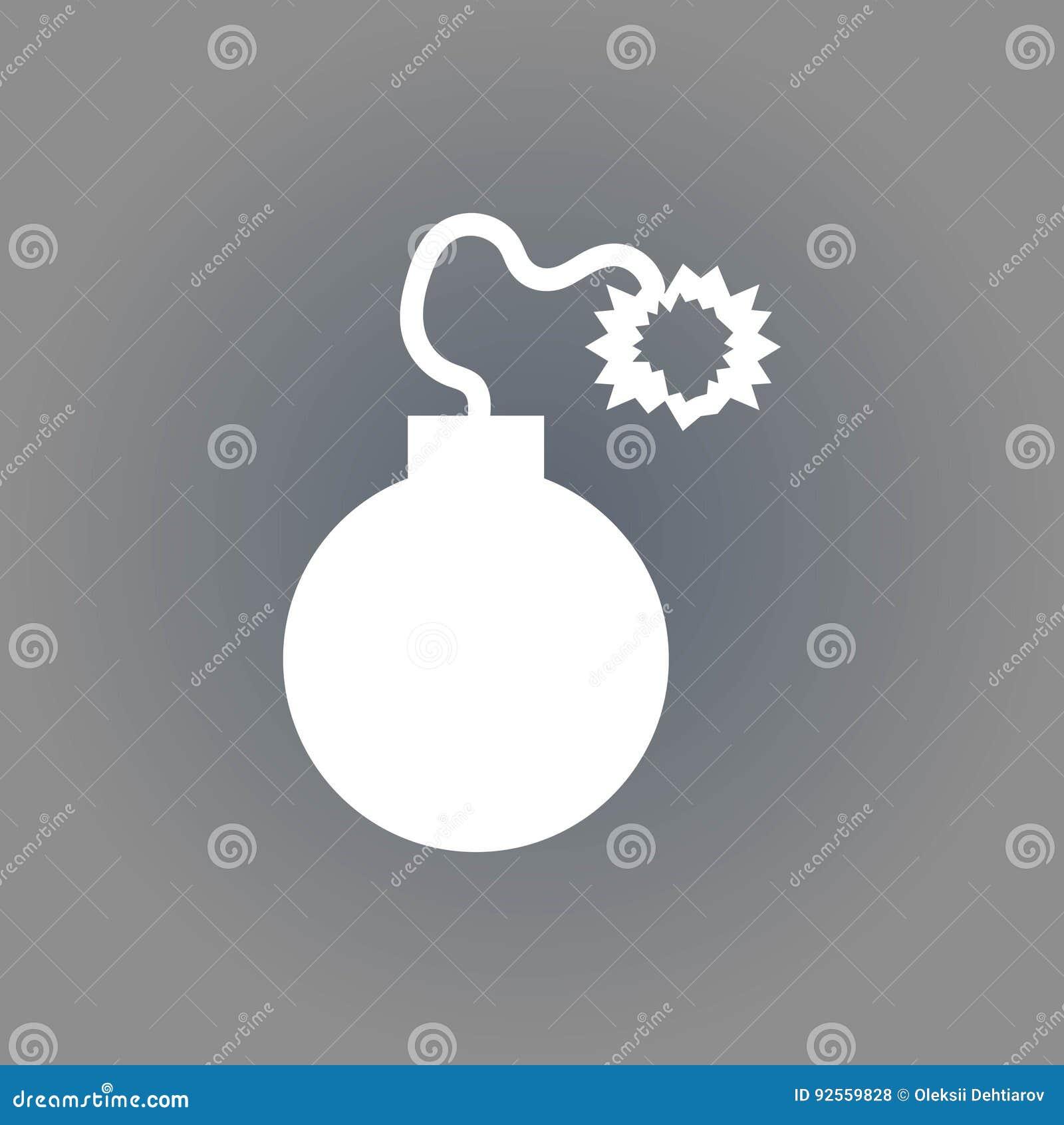 Progettazione piana dell illustrazione di vettore delle azione dell icona della bomba