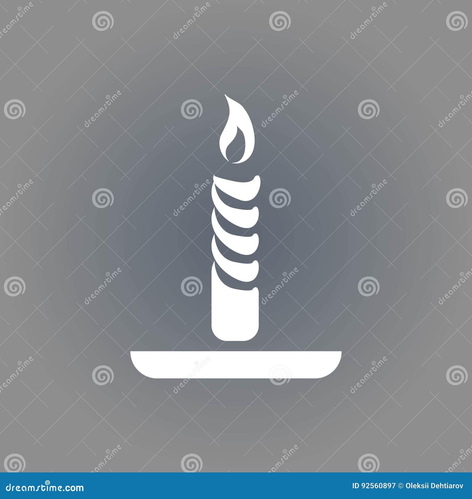 Progettazione piana dell illustrazione di vettore delle azione dell icona della candela
