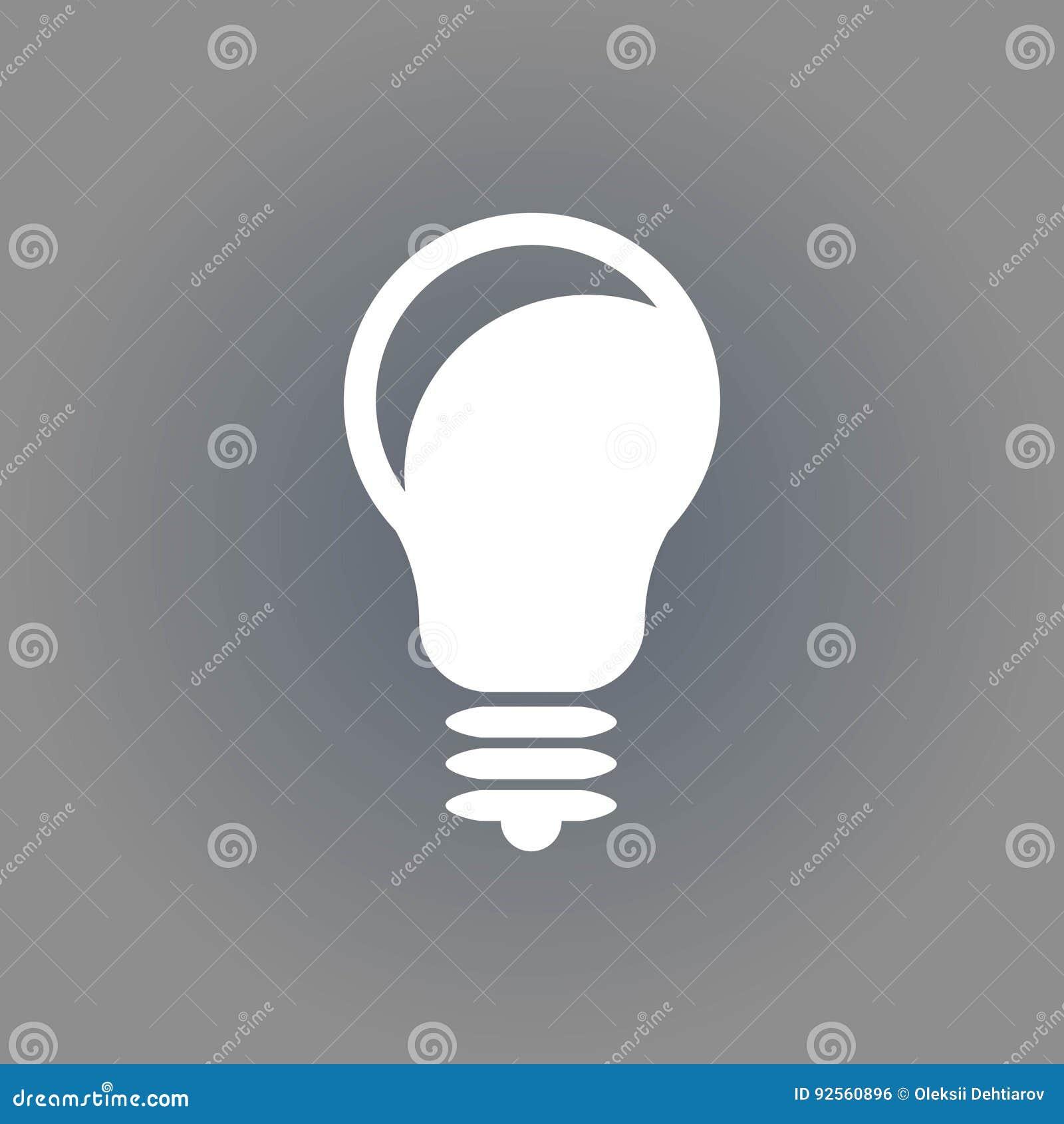 Progettazione piana dell illustrazione di vettore delle azione dell icona della lampadina