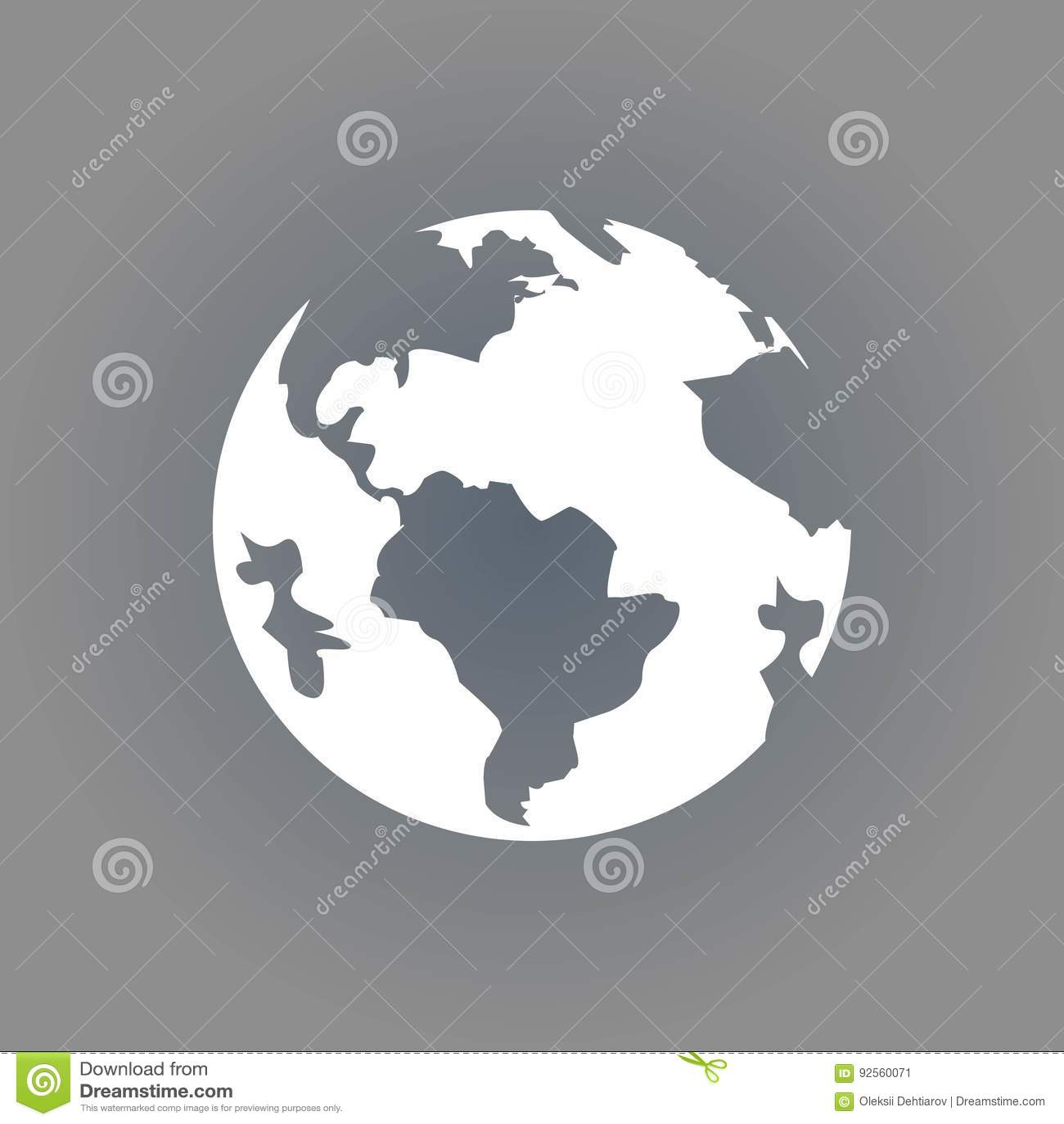 Progettazione piana dell illustrazione di vettore delle azione dell icona della terra