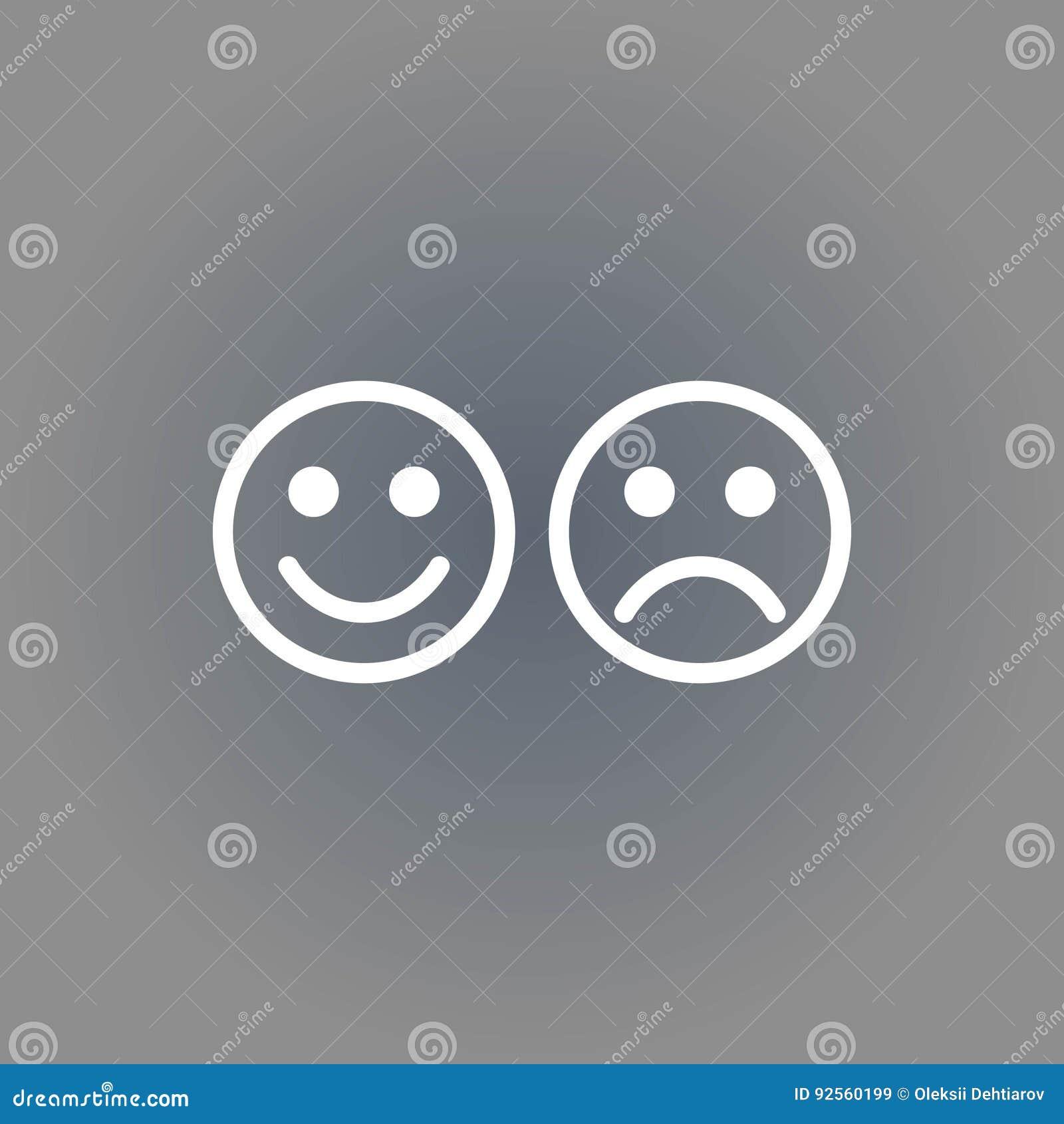 Progettazione piana dell illustrazione di vettore delle azione dell icona di sorriso