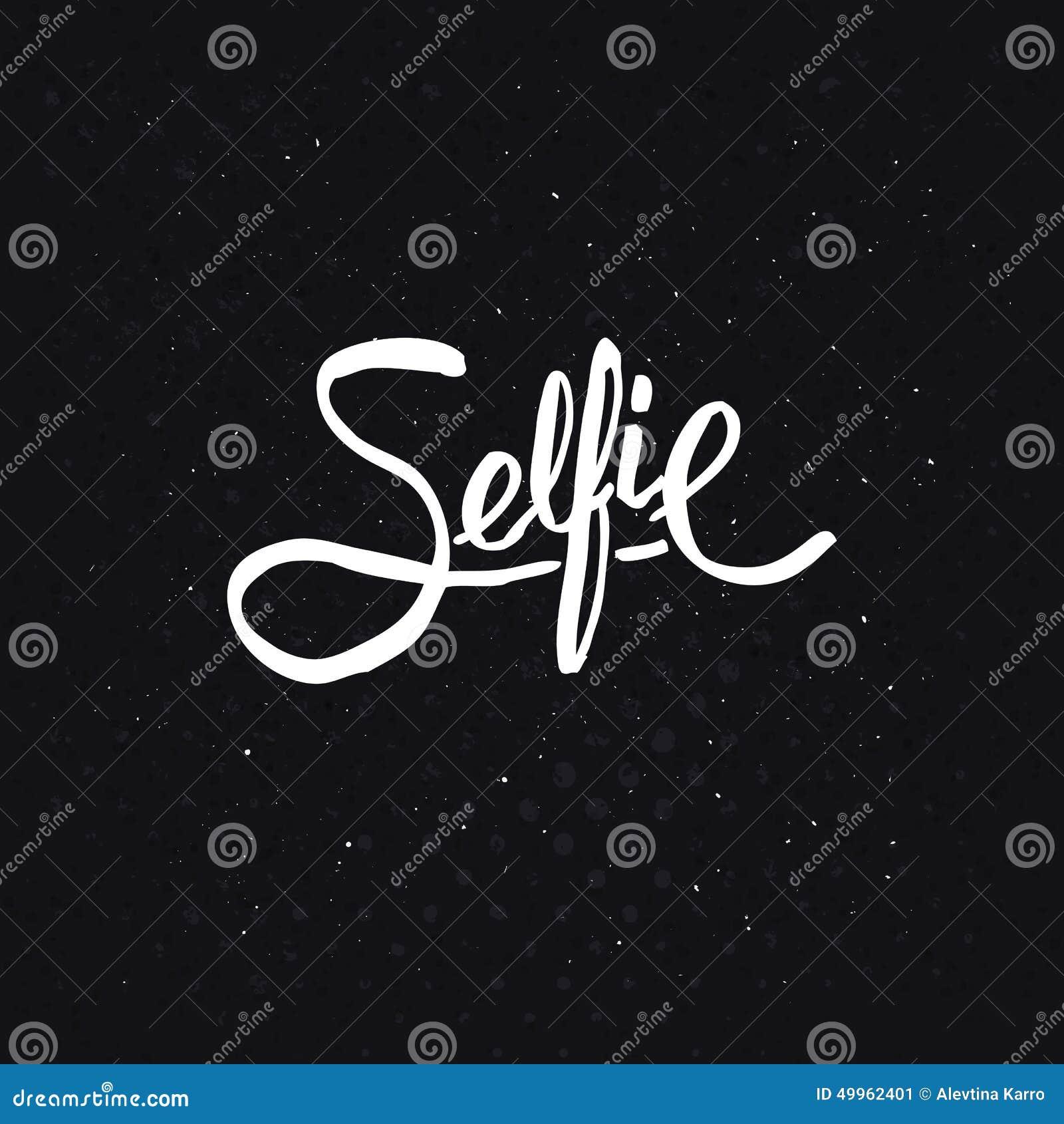 Progettazione semplice del testo per il concetto di Selfie