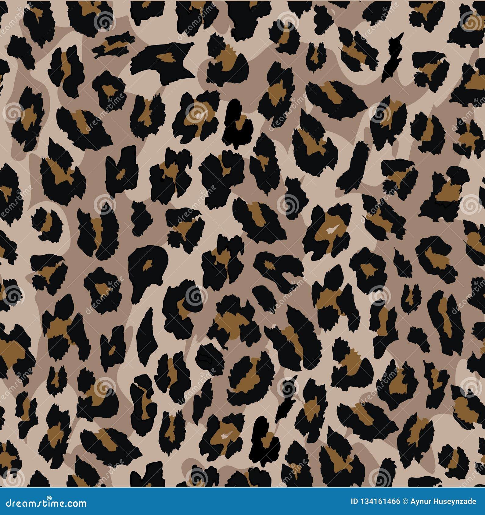 Progettazione senza cuciture del modello del leopardo Priorità bassa dell illustrazione di vettore