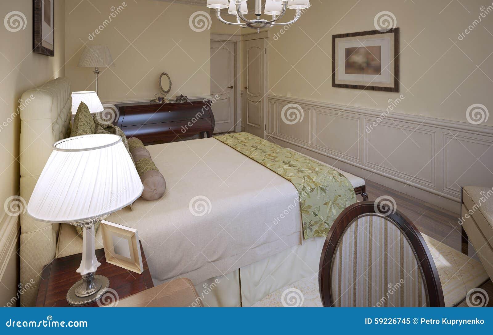 Progettazione tradizionale della camera da letto inglese
