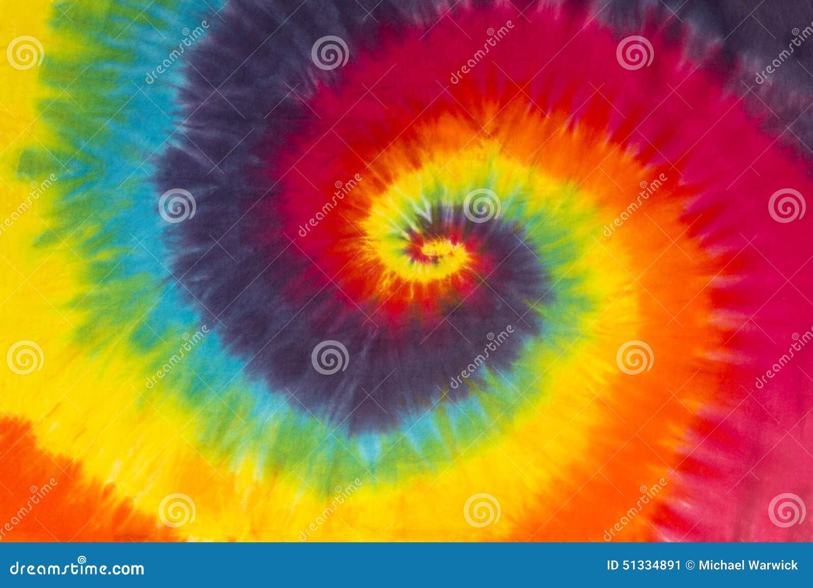 Progettazione variopinta del modello di spirale della tintura del legame