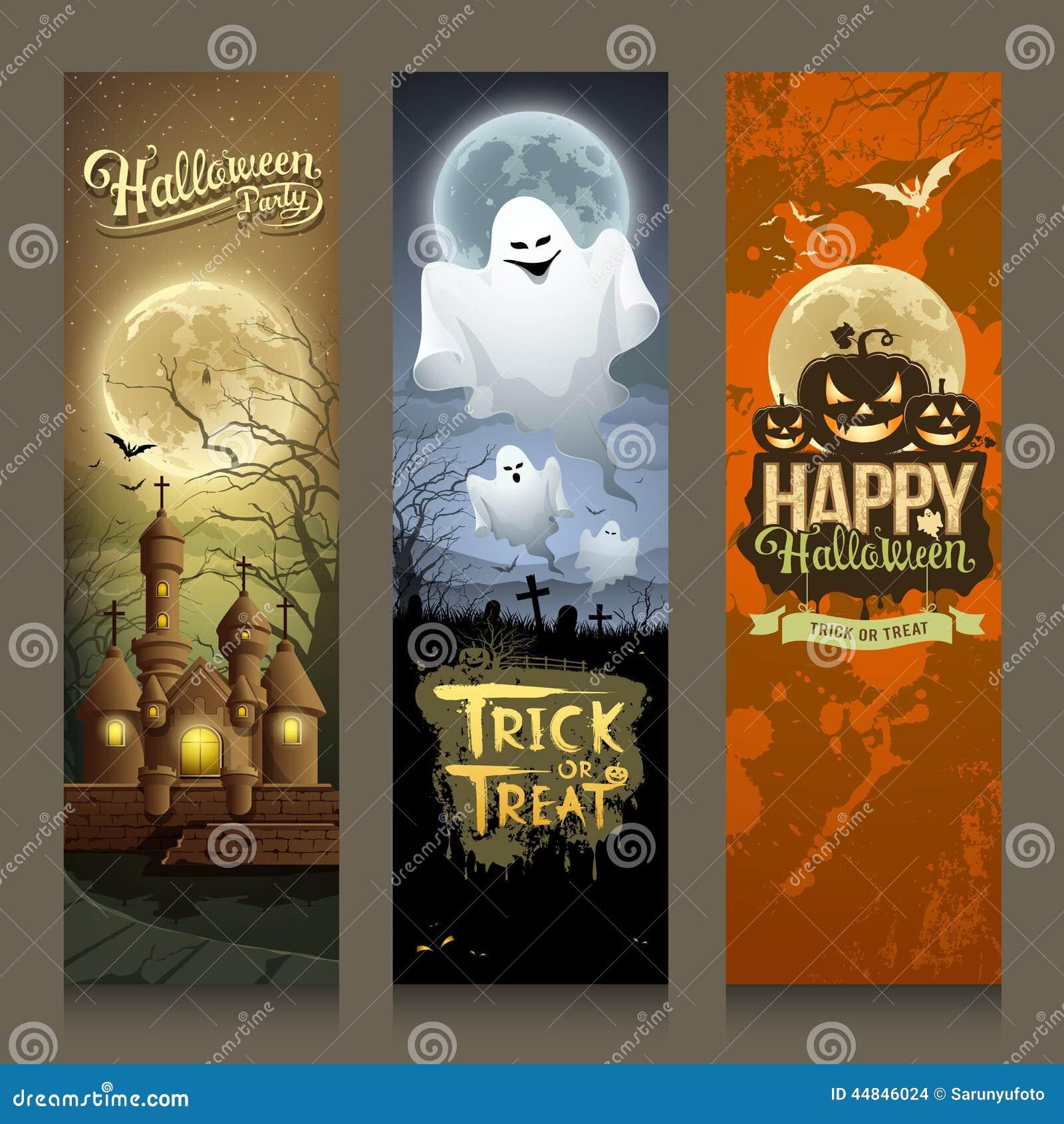 Progettazione verticale di Halloween di giorno dell insegna felice delle collezioni
