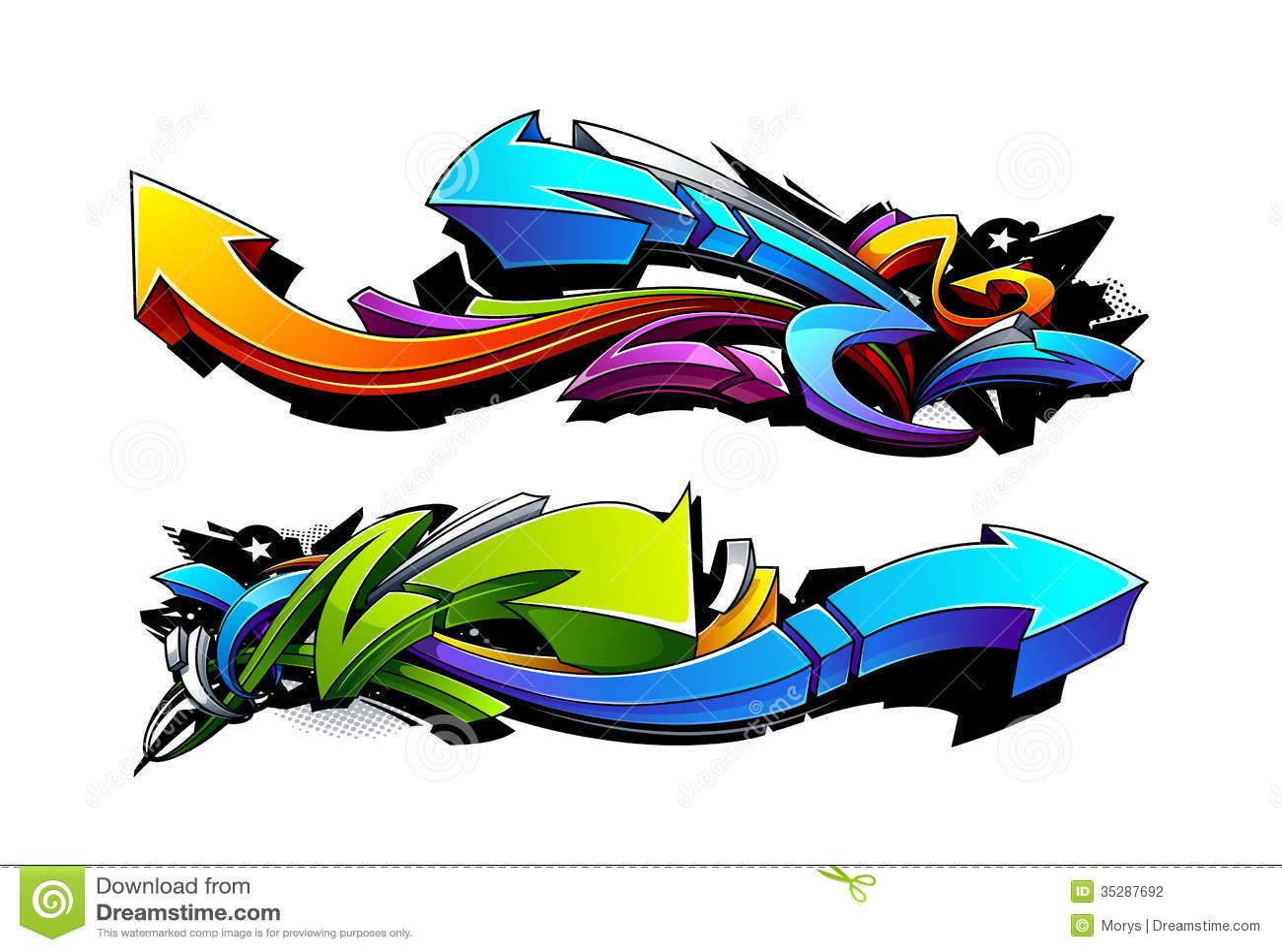 Progettazioni delle frecce dei graffiti