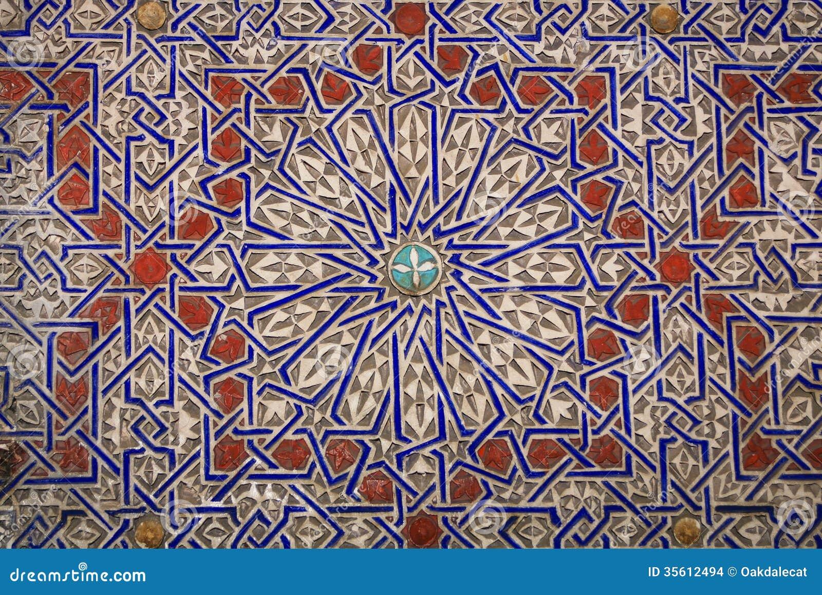 Progettazioni marocchine arabe di fascino in argilla fotografia