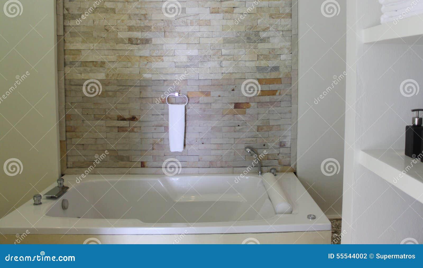 Progetti Un Bagno Con I Mattoni Di Rivestimento Fotografia Stock - Immagine: 55544002