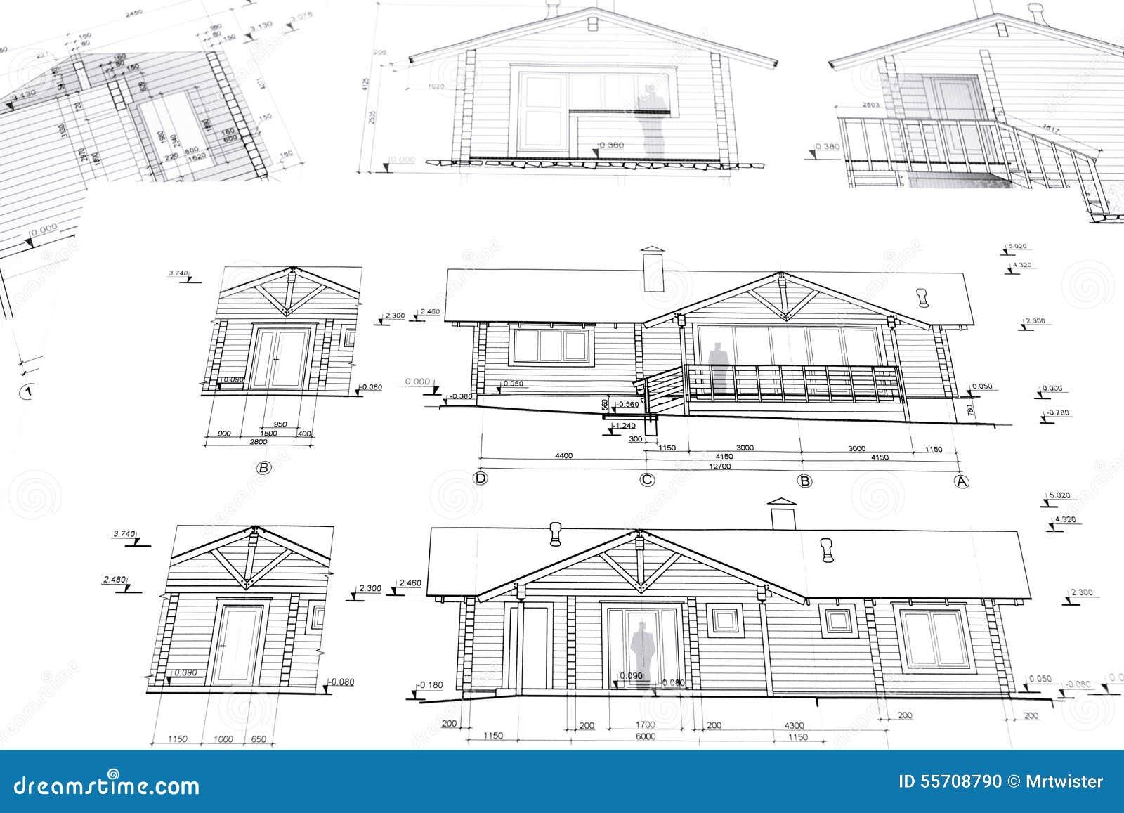progetto architettonico della casa fotografia stock