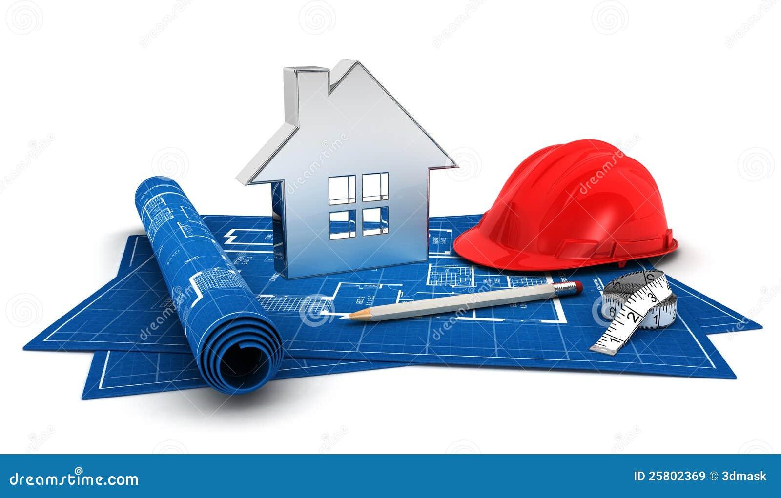 Progetto della casa 3d illustrazione di stock immagine di for Disegni e prezzi della casa