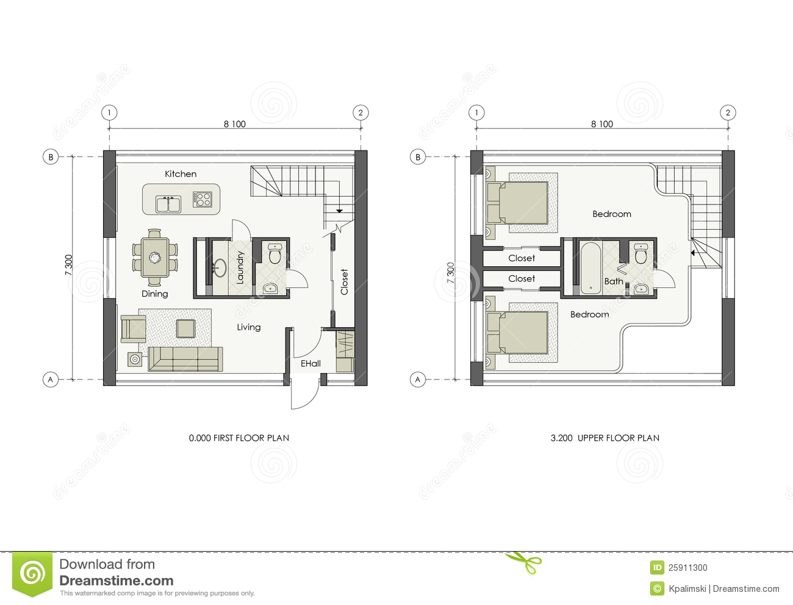 Progetto della piccola casa illustrazione di stock for Disegno della casa di architettura