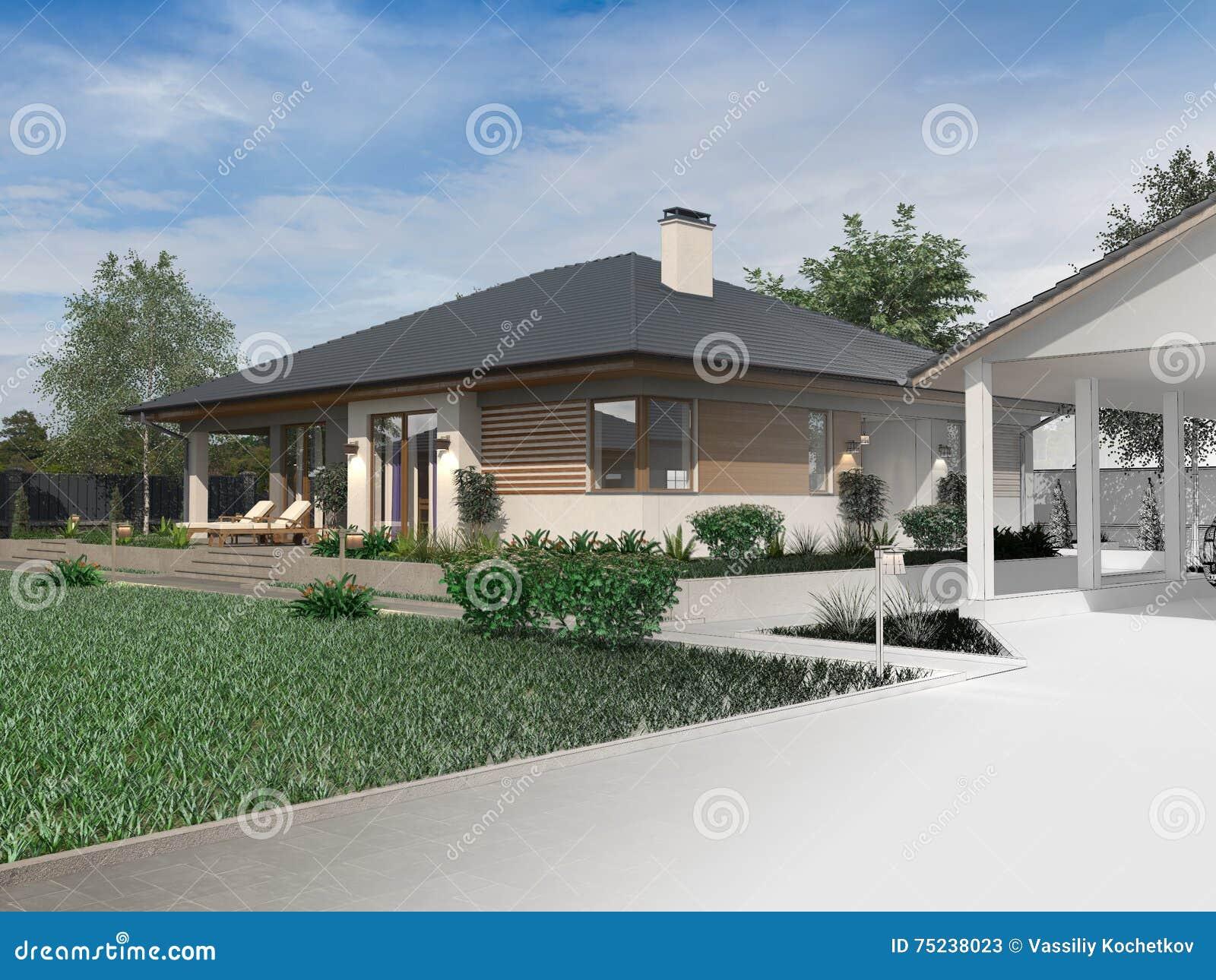 progetto di una villa di lusso in costruzione