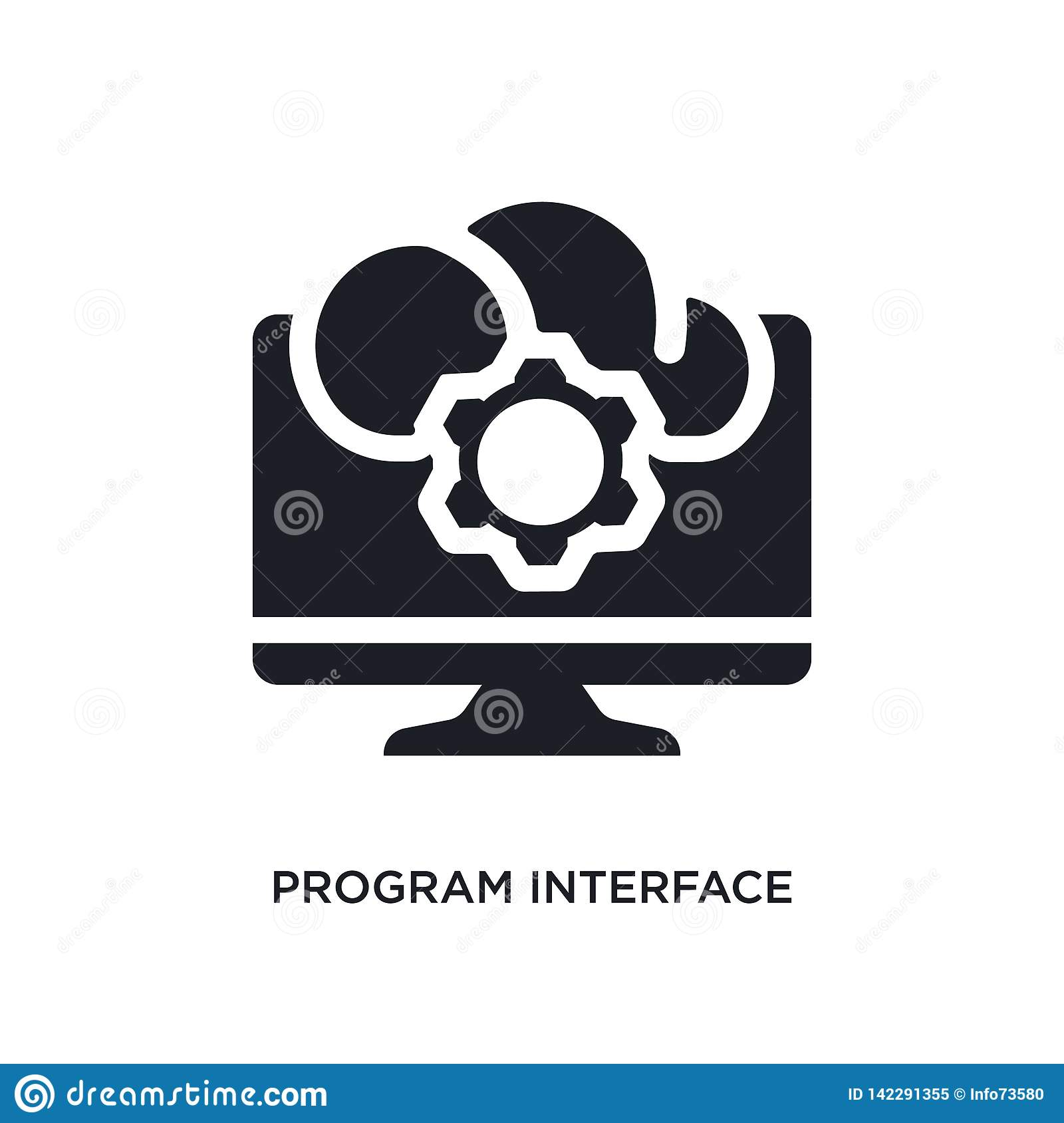 program interface isolated icon. simple element illustration from programming concept icons. program interface editable logo sign