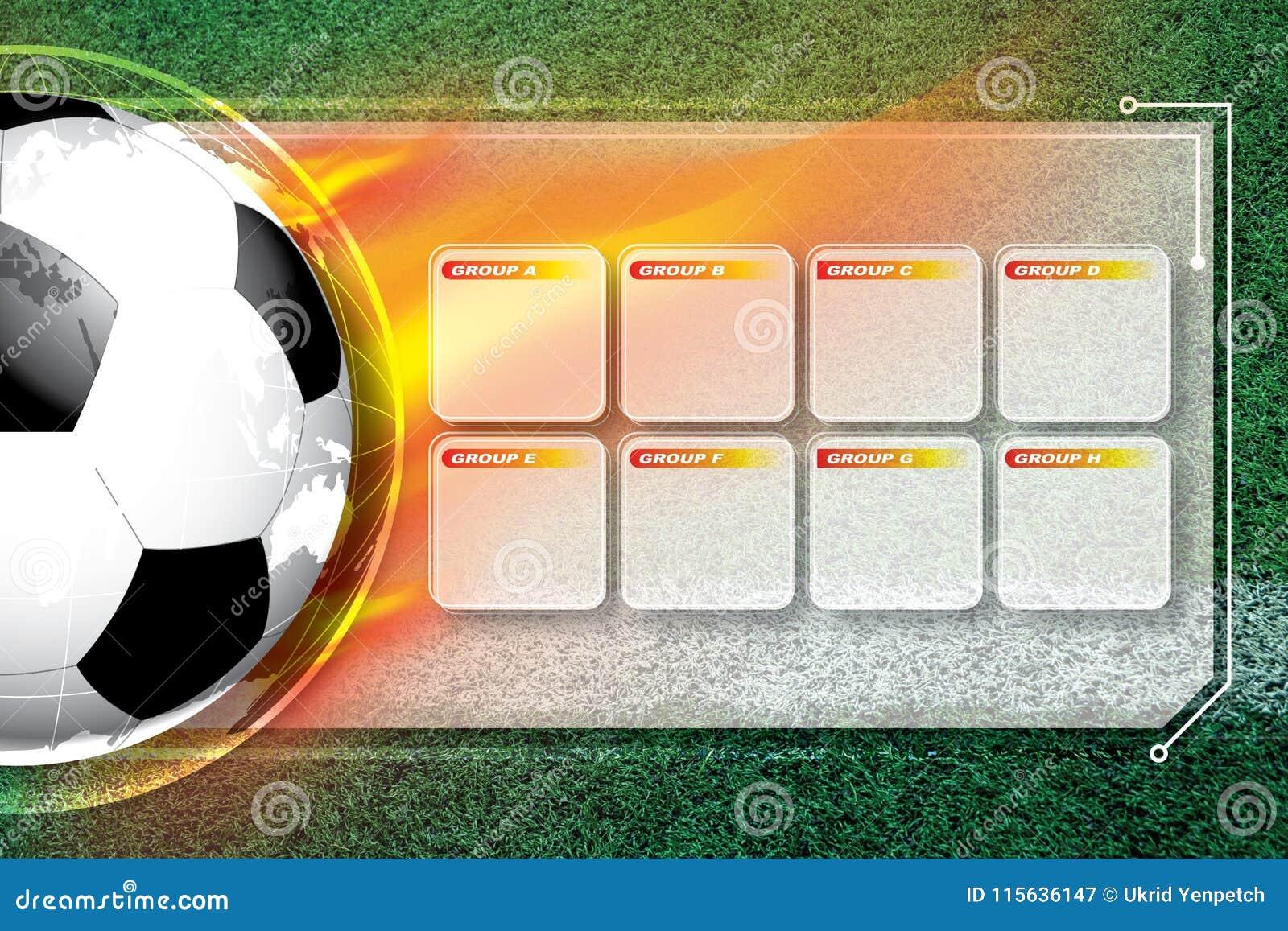 Programação da competição do futebol do futebol do fundo