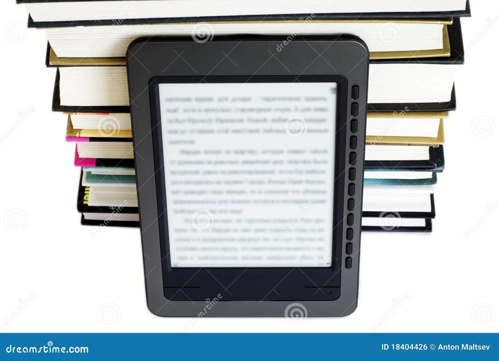 Programa de lectura de Ebook en los libros de la pila