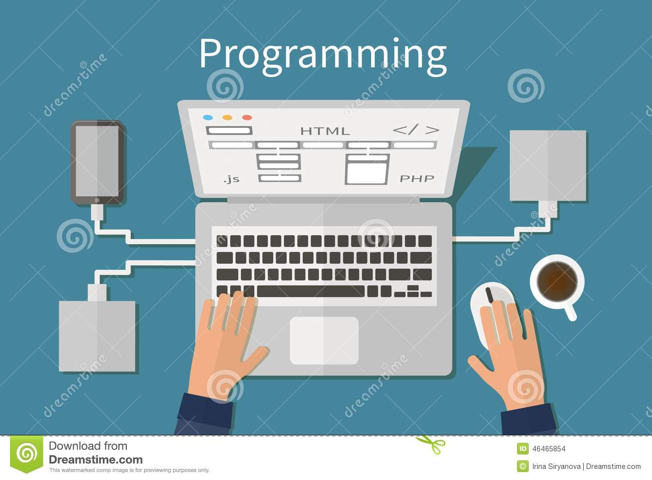 Programando e codificando, deveopment do Web site, Web
