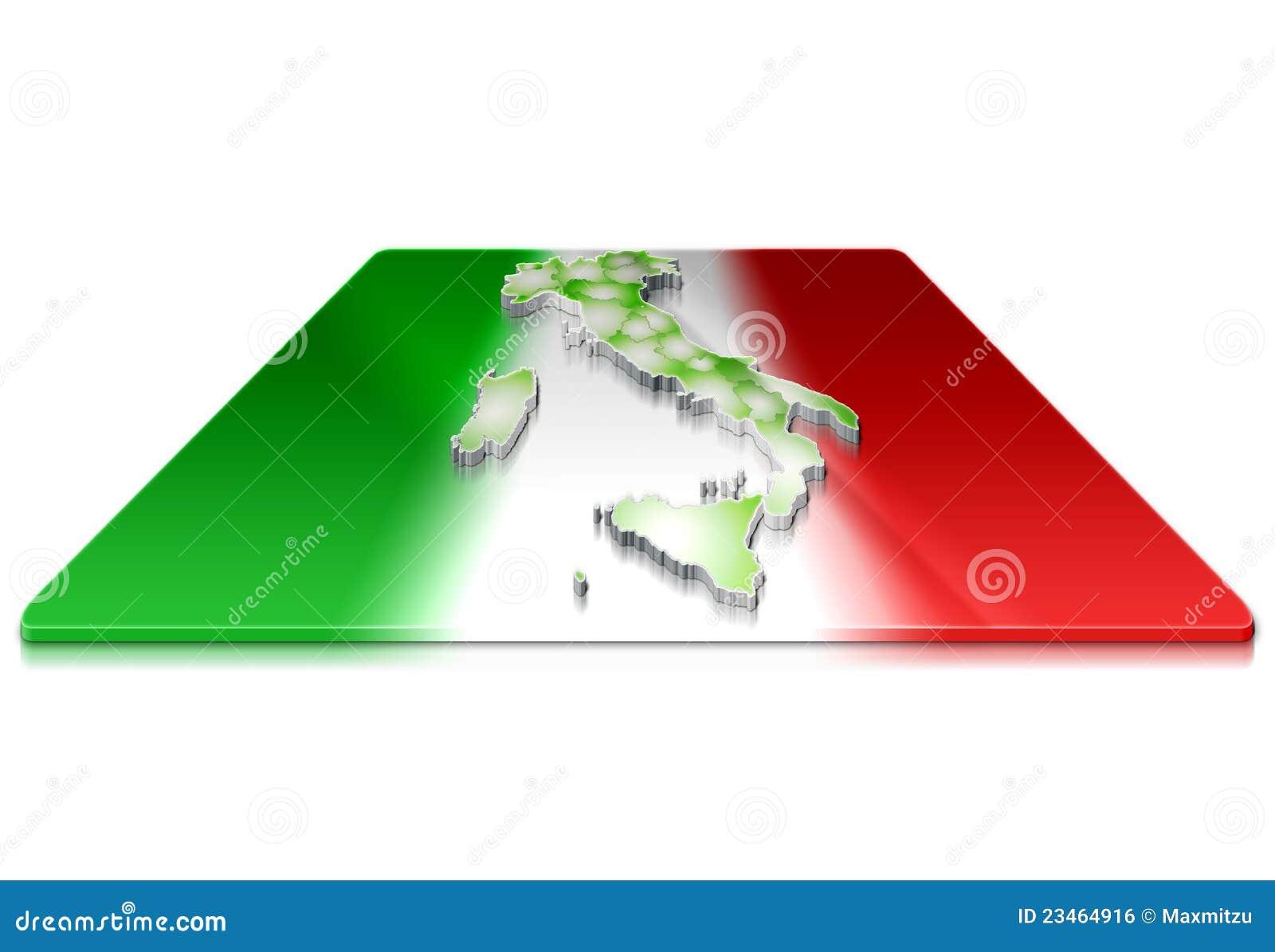 Programma 3d dell 39 italia su una bandierina 3d for Programma 3d semplice