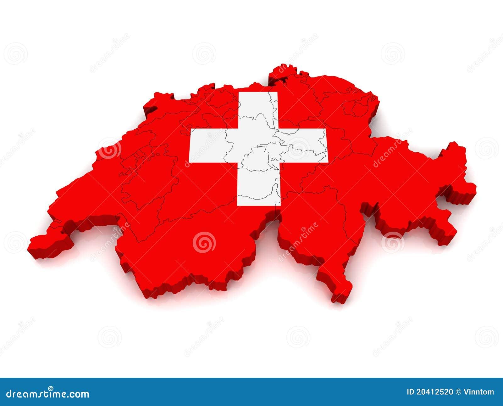 Programma 3d della svizzera illustrazione di stock for Programma 3d semplice