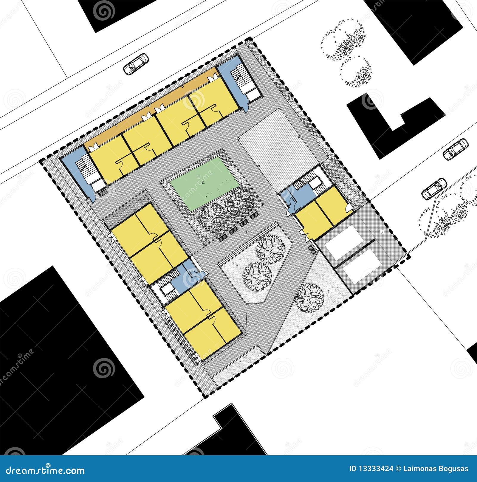 Programma del pianterreno della casa vivente illustrazione for Programma architettura gratis