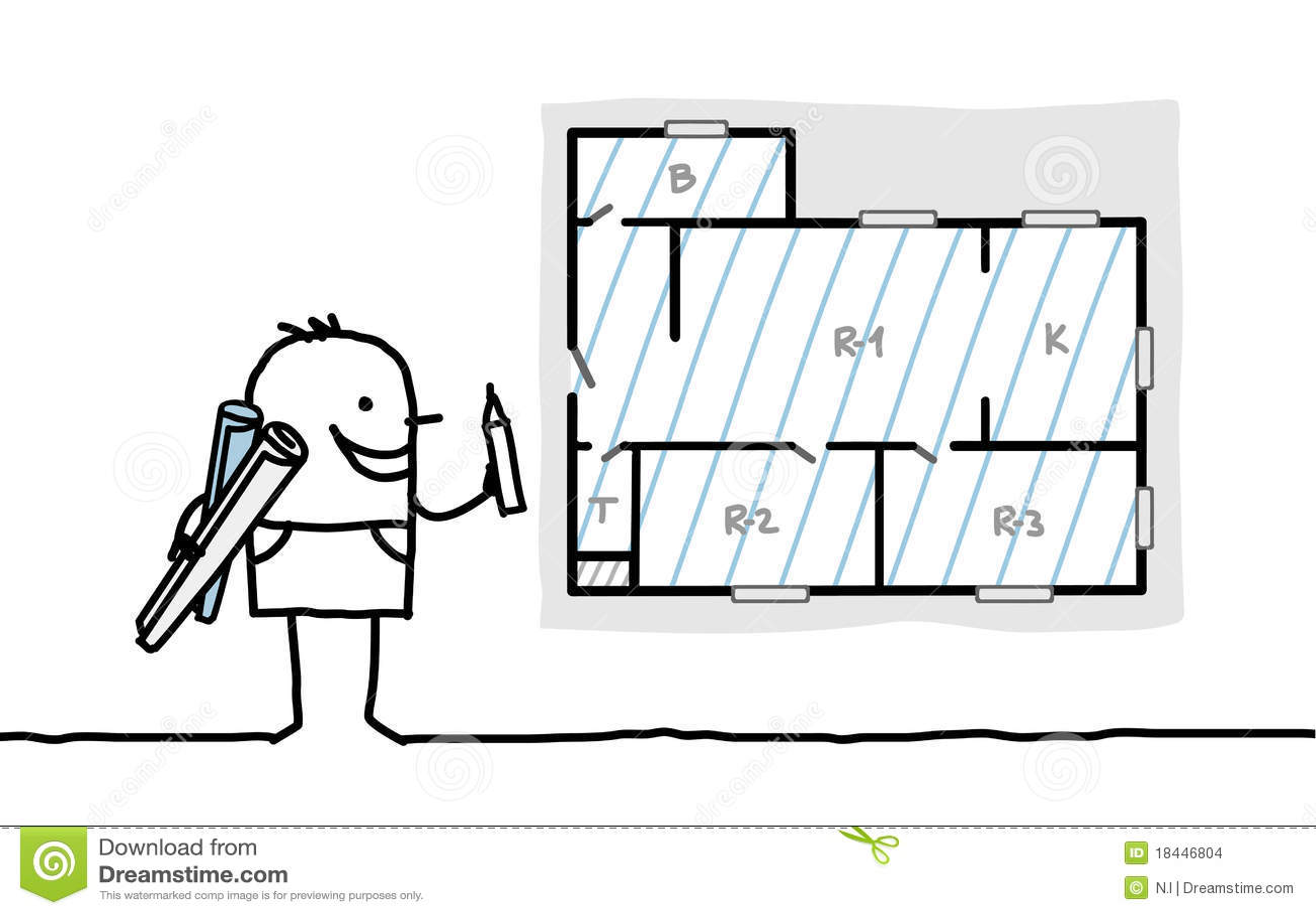 Programma dell 39 appartamento dell 39 illustrazione dell for Programma architettura gratis