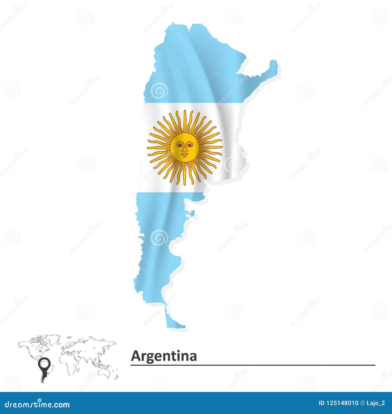 Programma dell Argentina con la bandierina